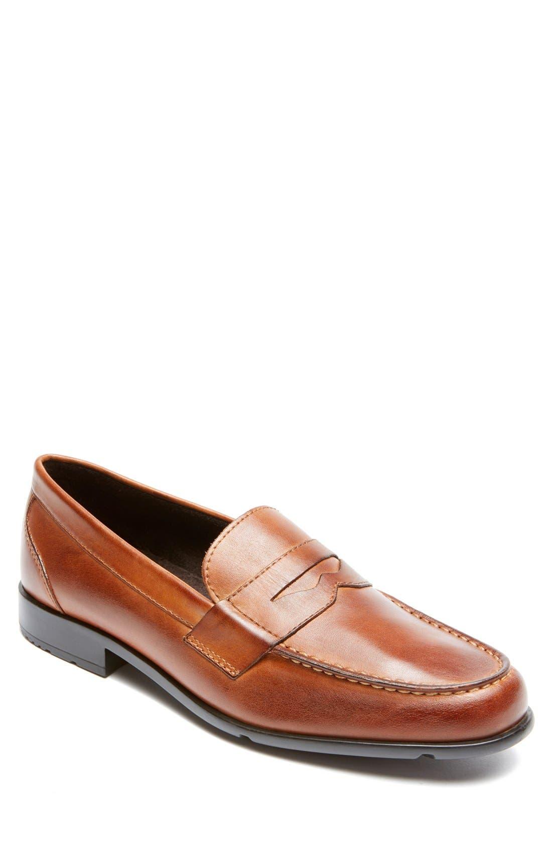 Alternate Image 1 Selected - Rockport Leather Penny Loafer (Men)