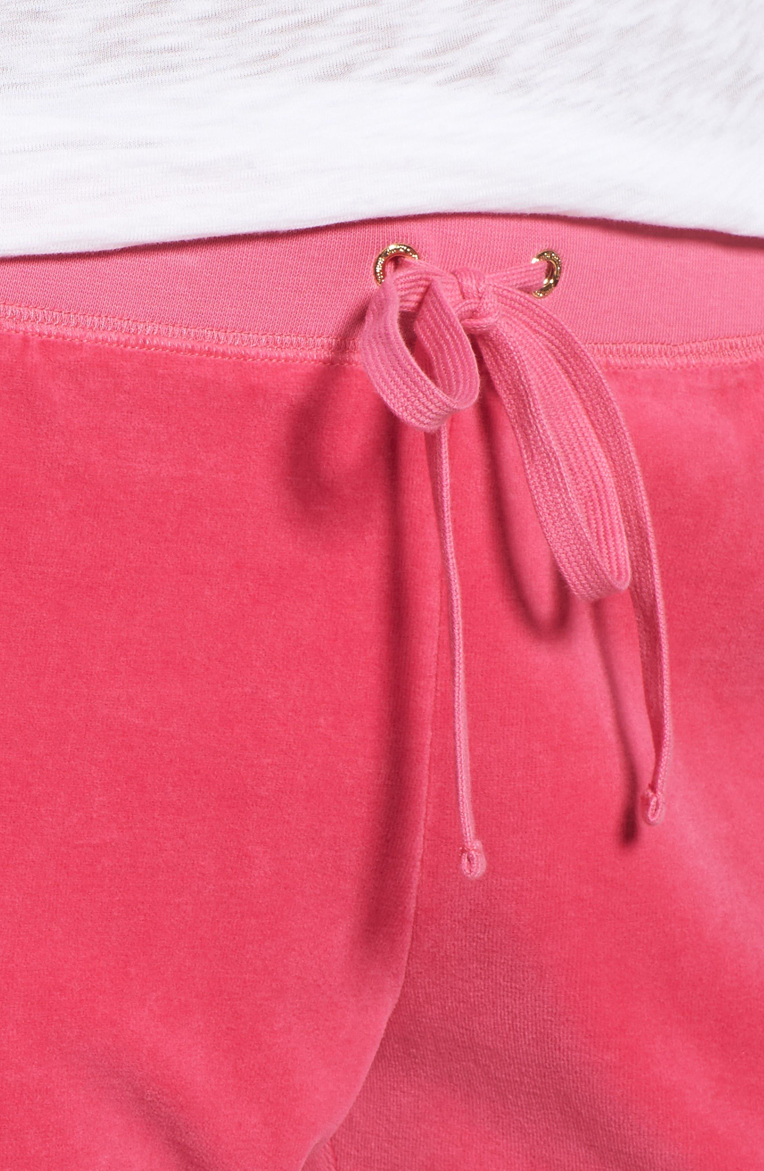 Alternate Image 4  - Juicy Couture Zuma Velour Track Pants