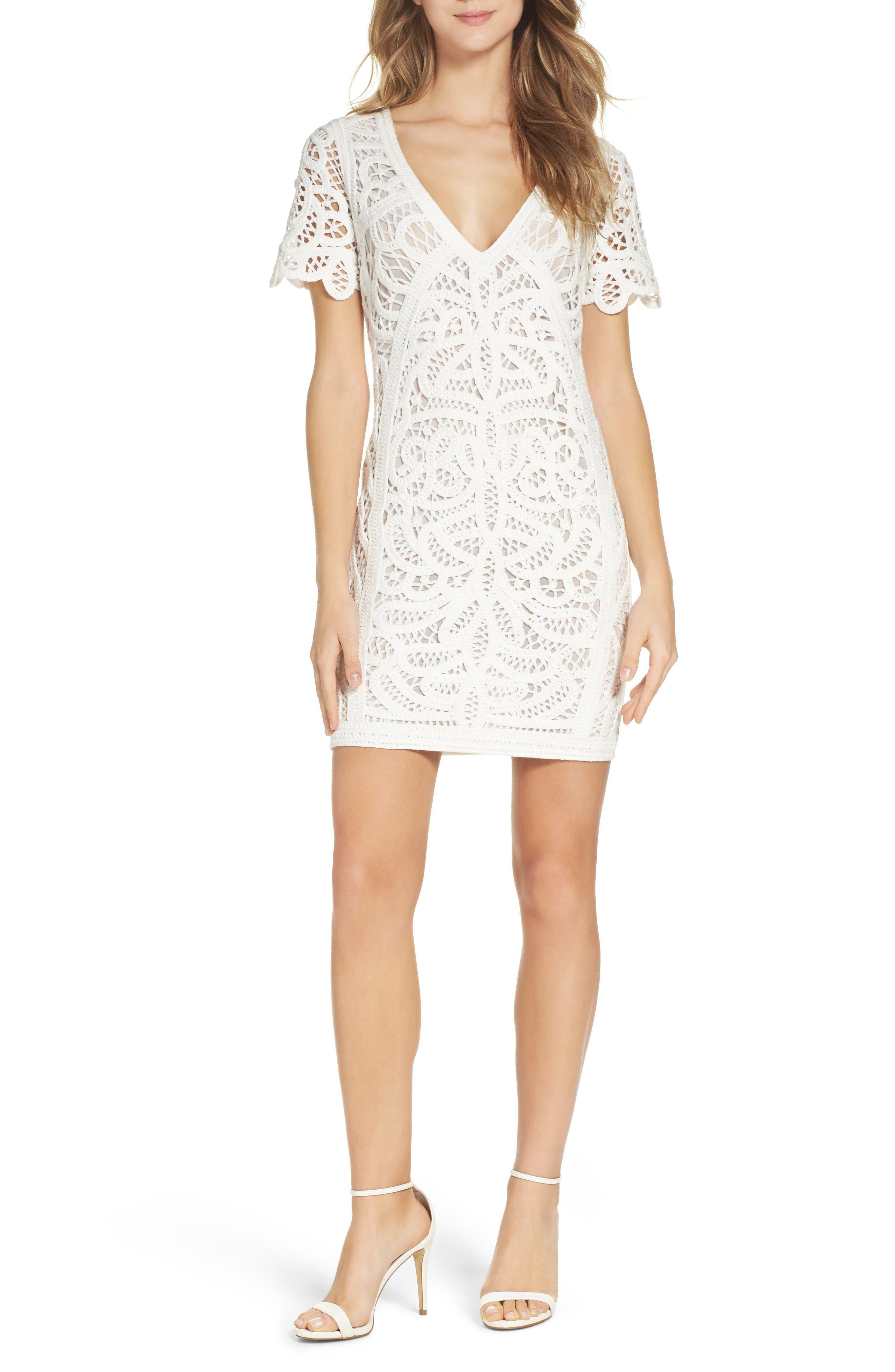 Mesi Lace Dress,                         Main,                         color, Summer White