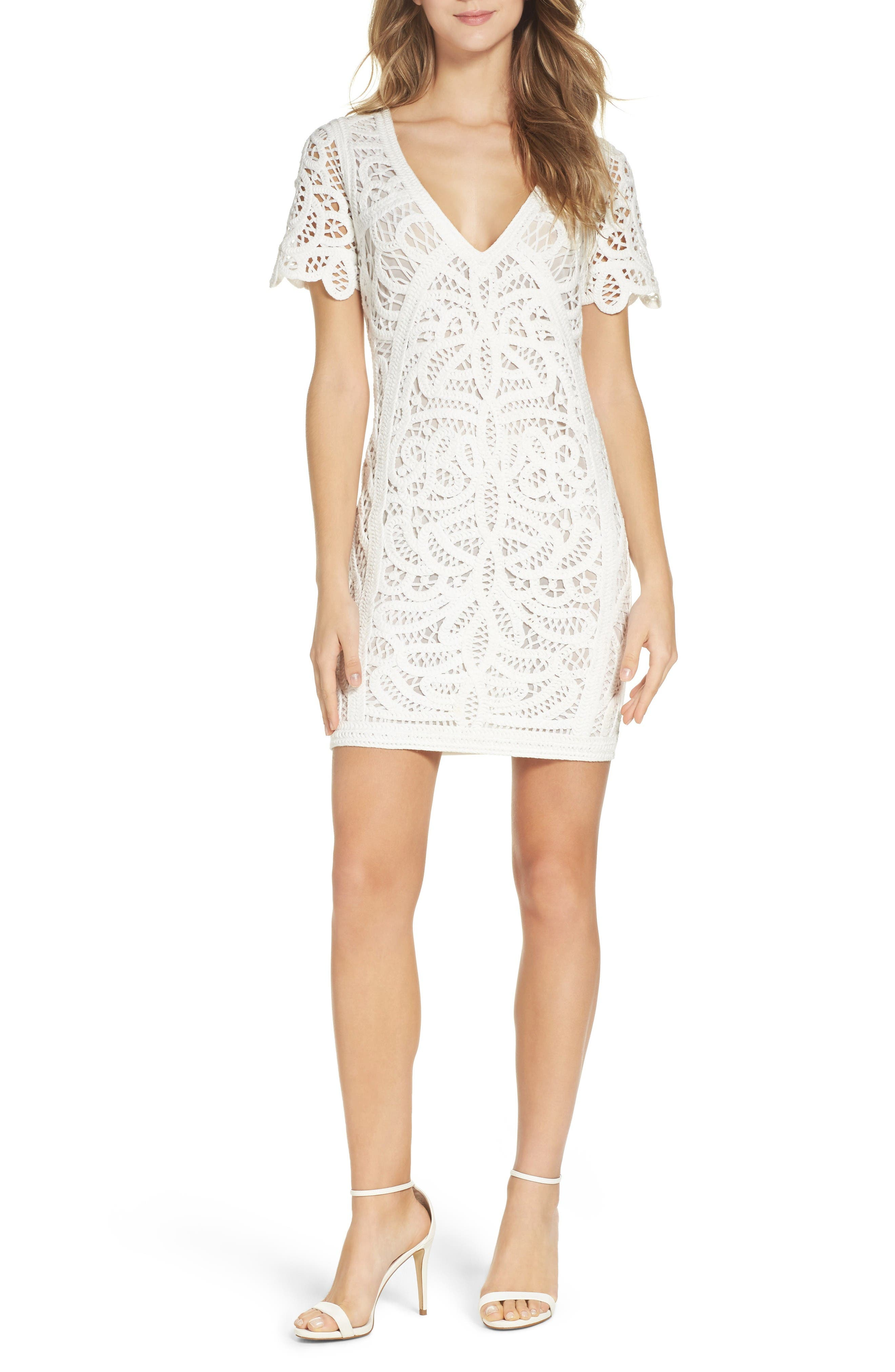 Mesi Lace Dress,                         Main,                         color, Summer White