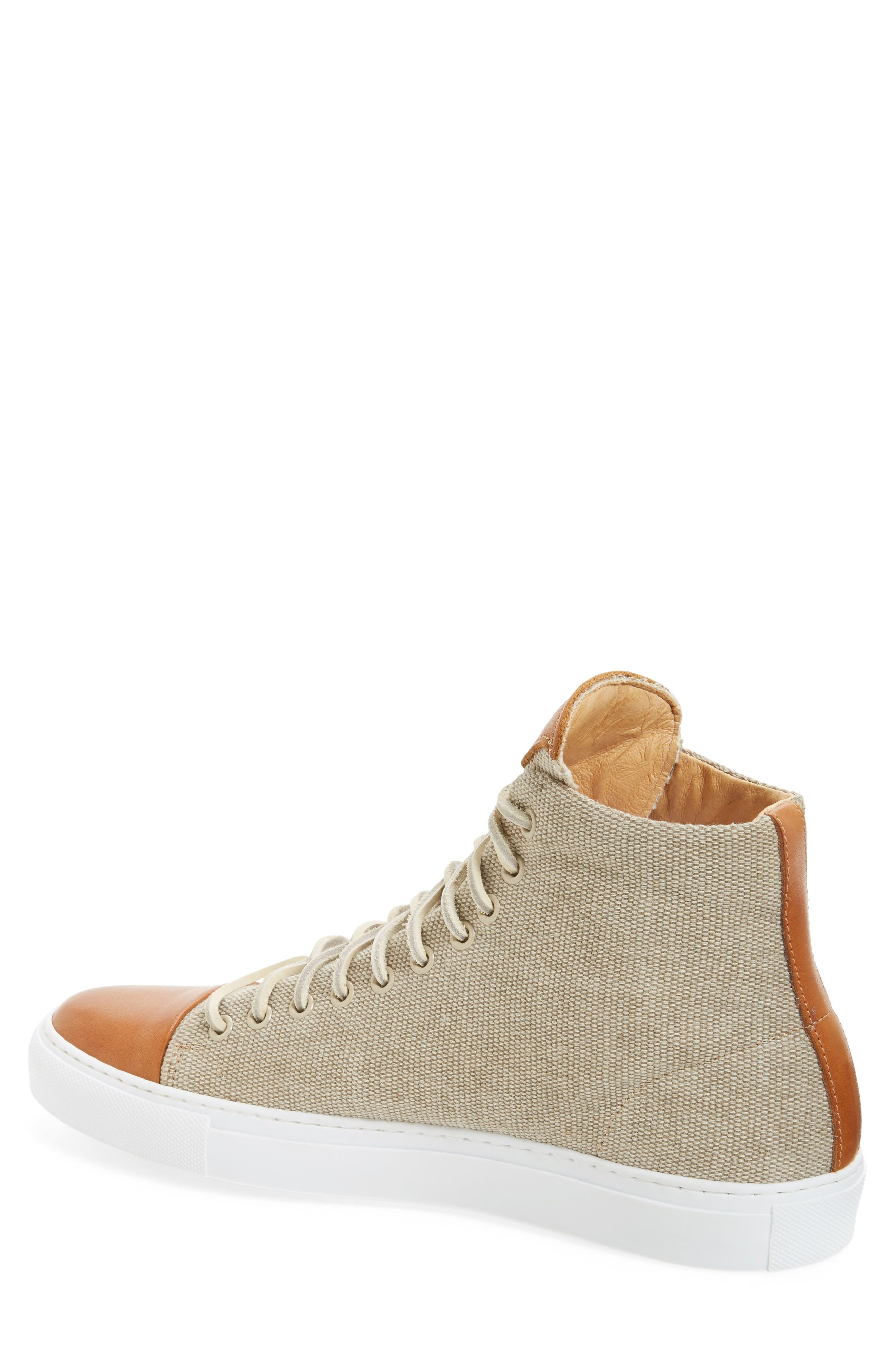 Good Sport High Top Sneaker,                             Alternate thumbnail 2, color,                             Sand Canvas