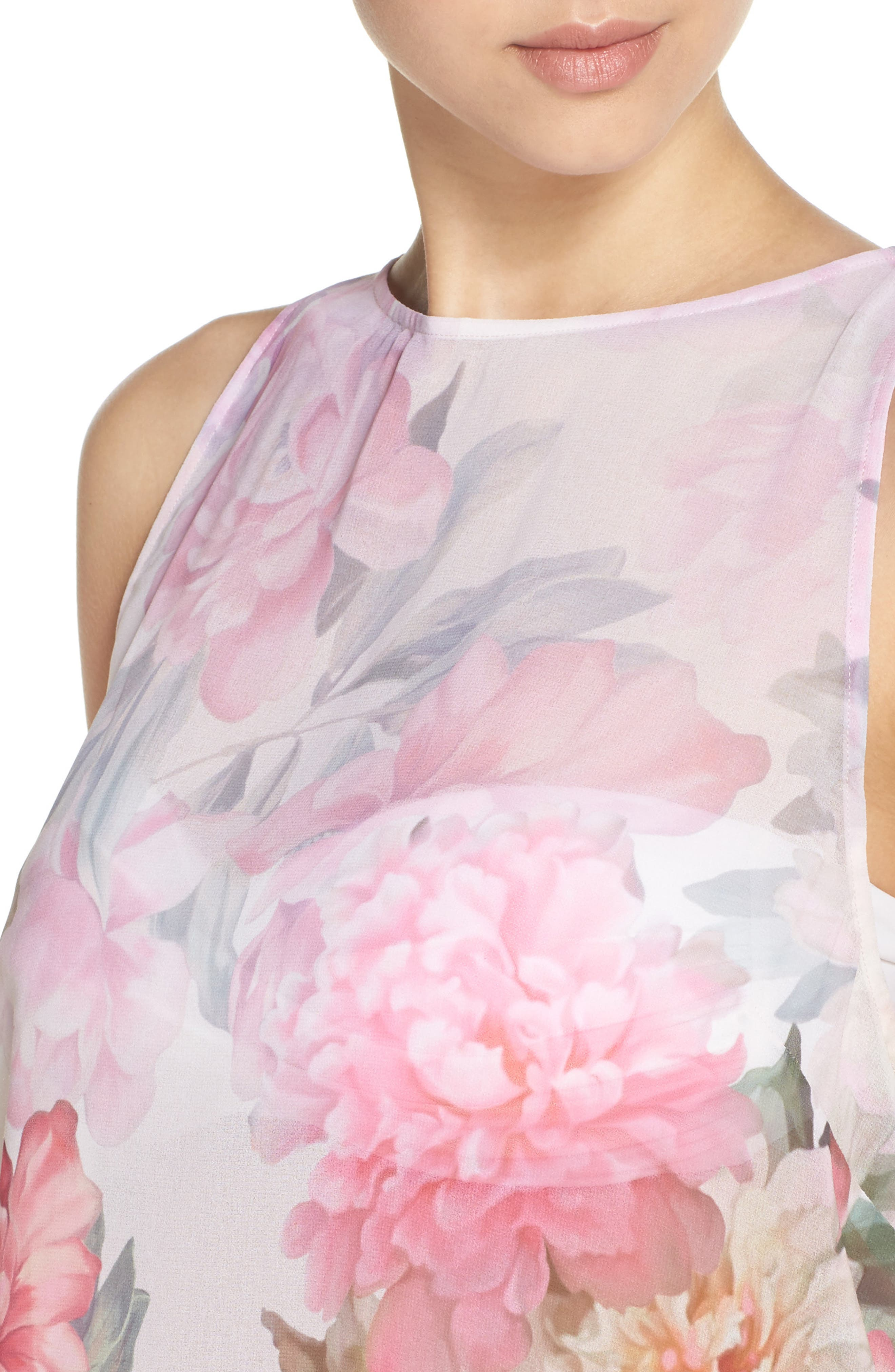 Painted Posie Cover-Up Dress,                             Alternate thumbnail 4, color,                             Baby Pink