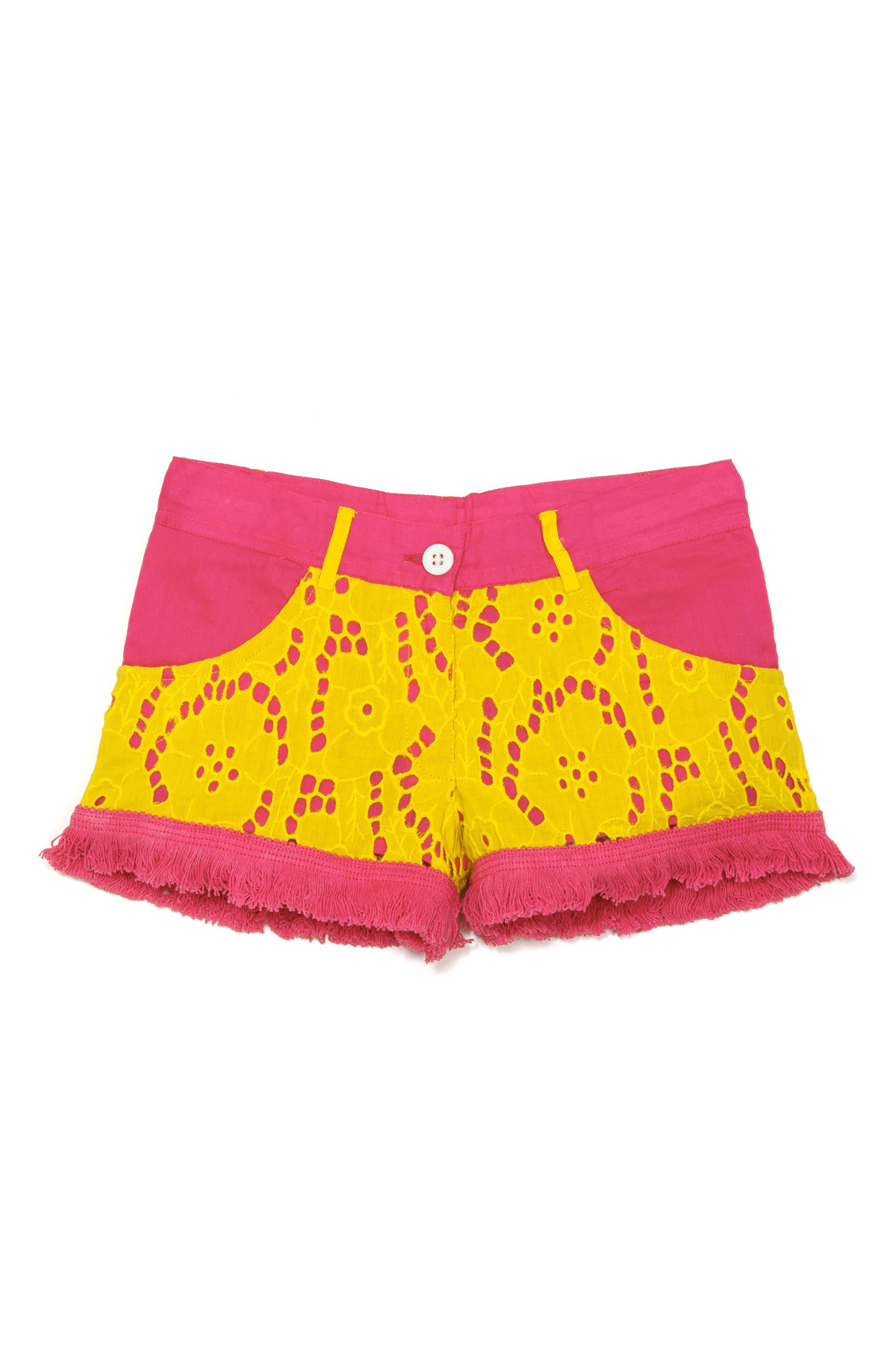 Alternate Image 1 Selected - Masasla Baby Eyelet Shorts (Toddler Girls, Little Girls & Big Girls)