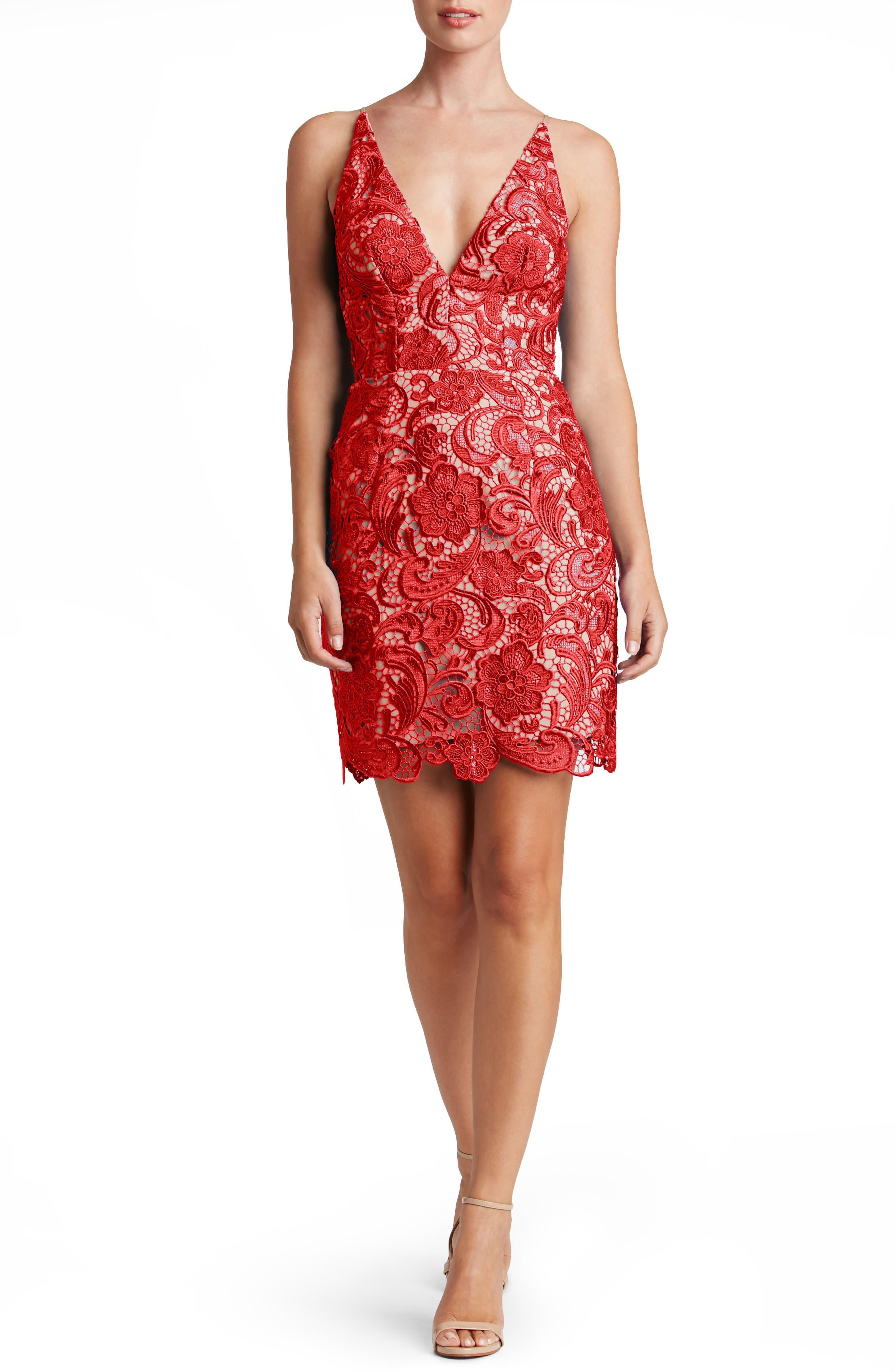 Allie Sheath Dress,                         Main,                         color, Cherry