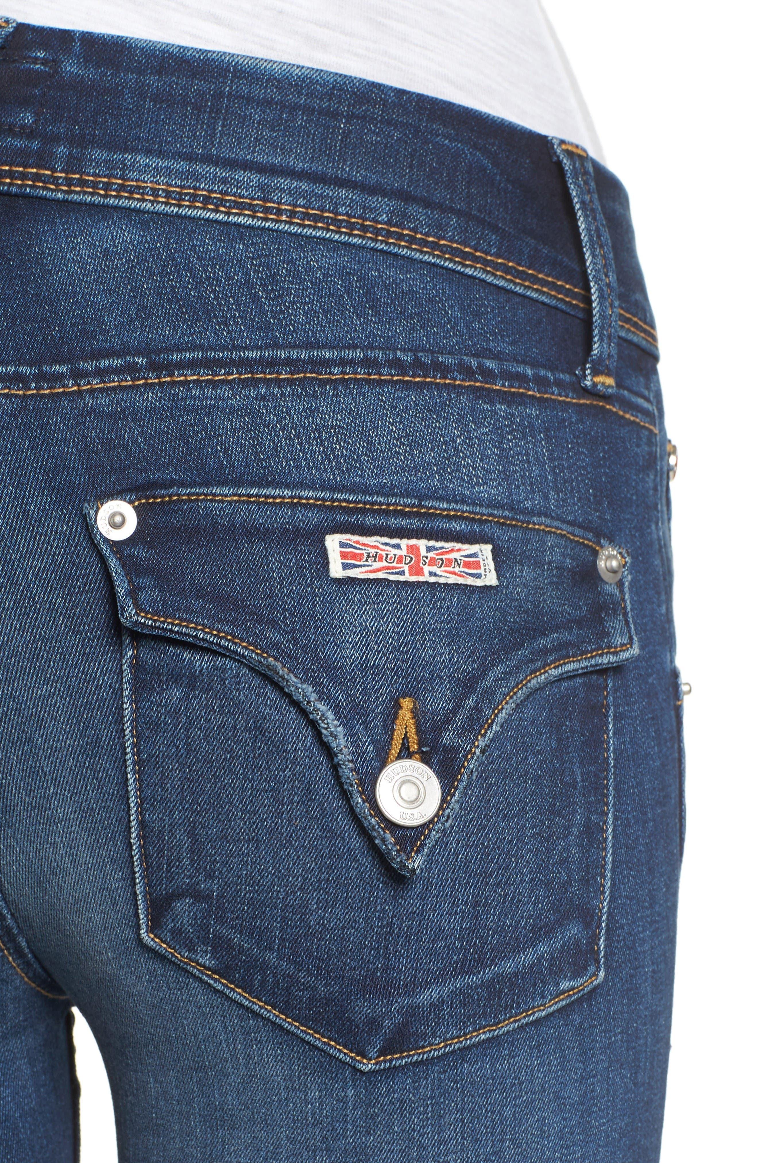 Alternate Image 4  - Hudson Jeans Collin Skinny Jeans (Pin Point)