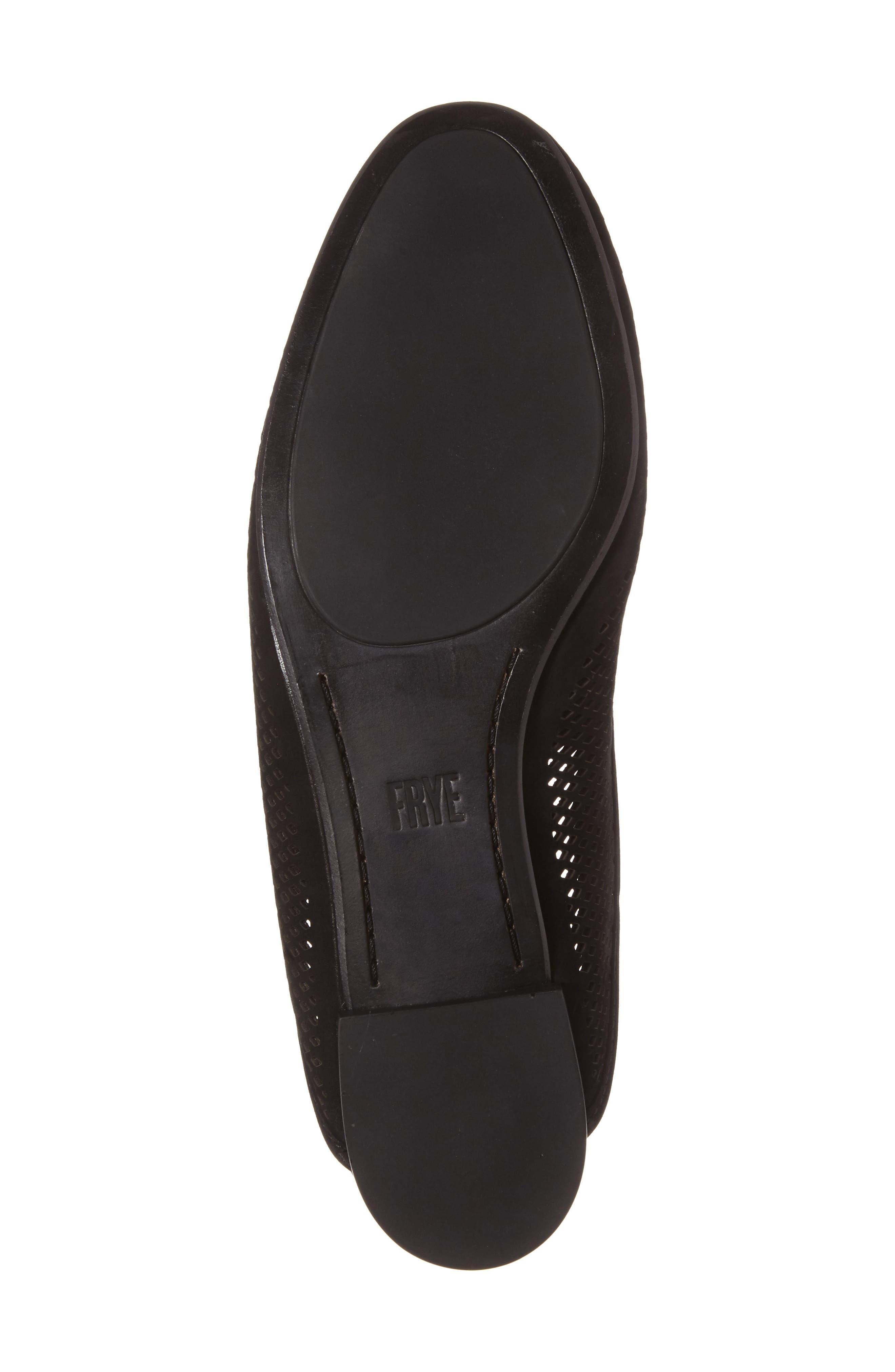 Gwen Perforated Mule,                             Alternate thumbnail 4, color,                             Black Nubuck Leather