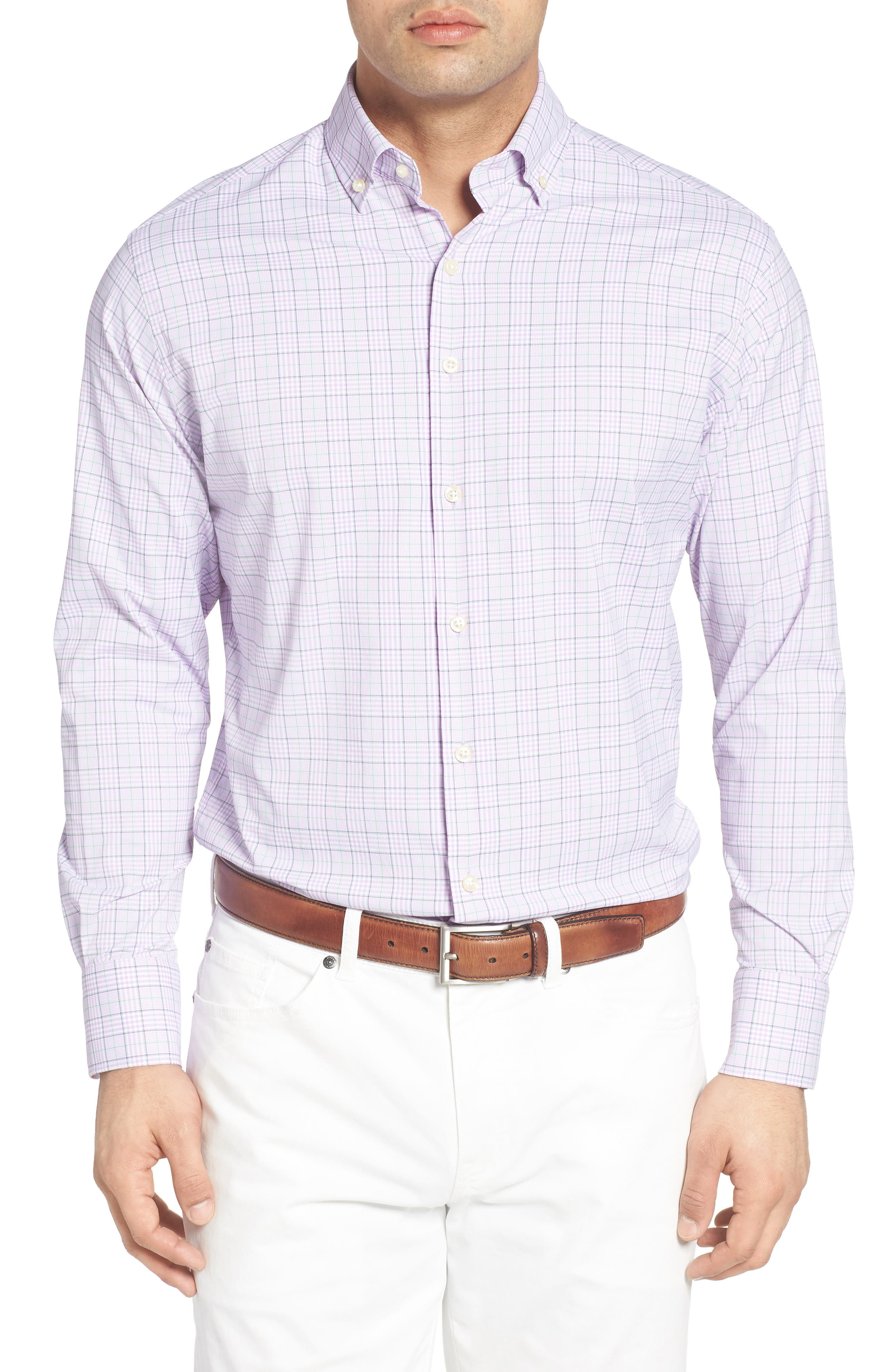 Peter Millar English Regular Fit Plaid Sport Shirt