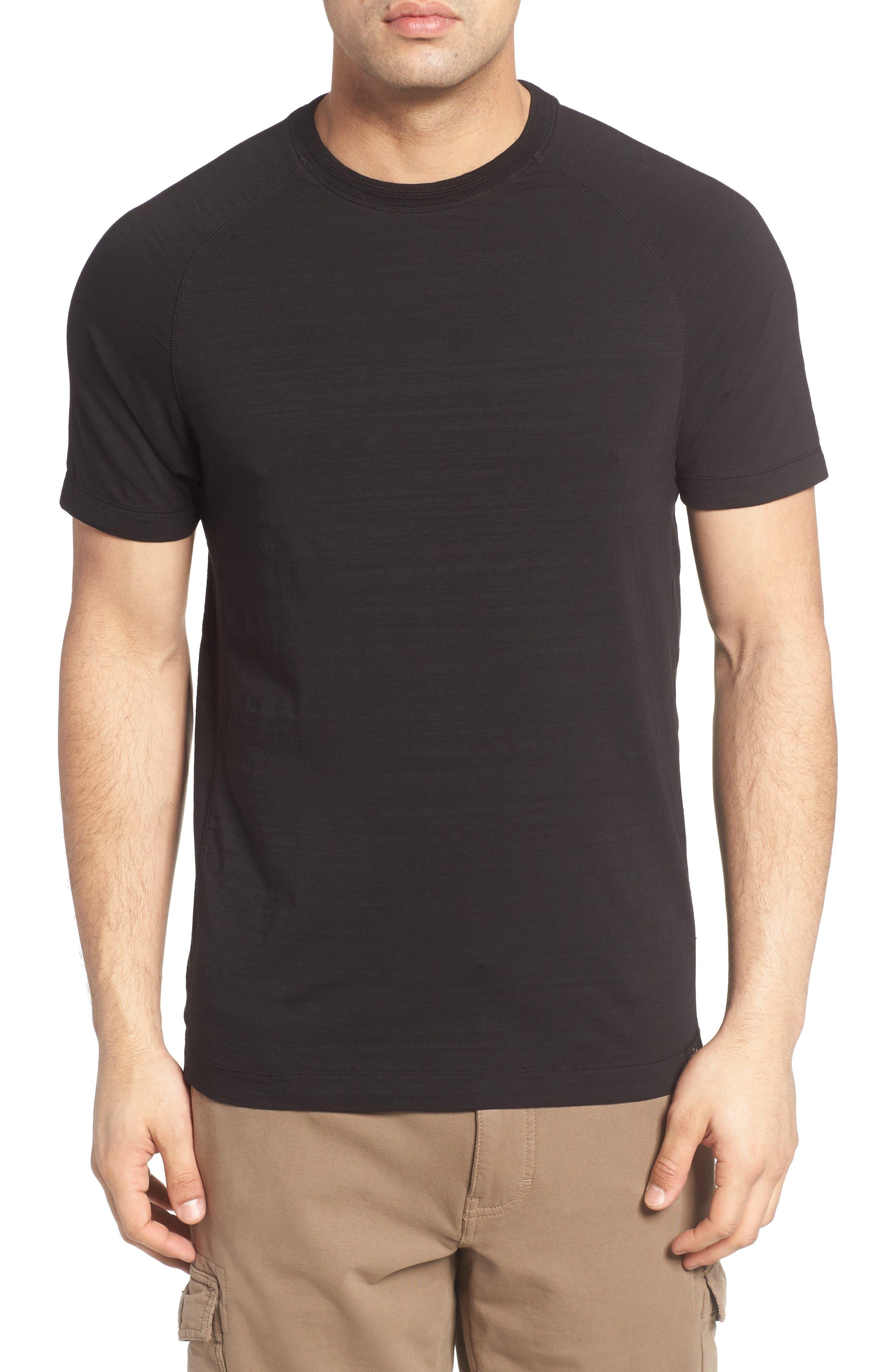 Riggs Stretch Slub Jersey T-Shirt,                         Main,                         color, Black
