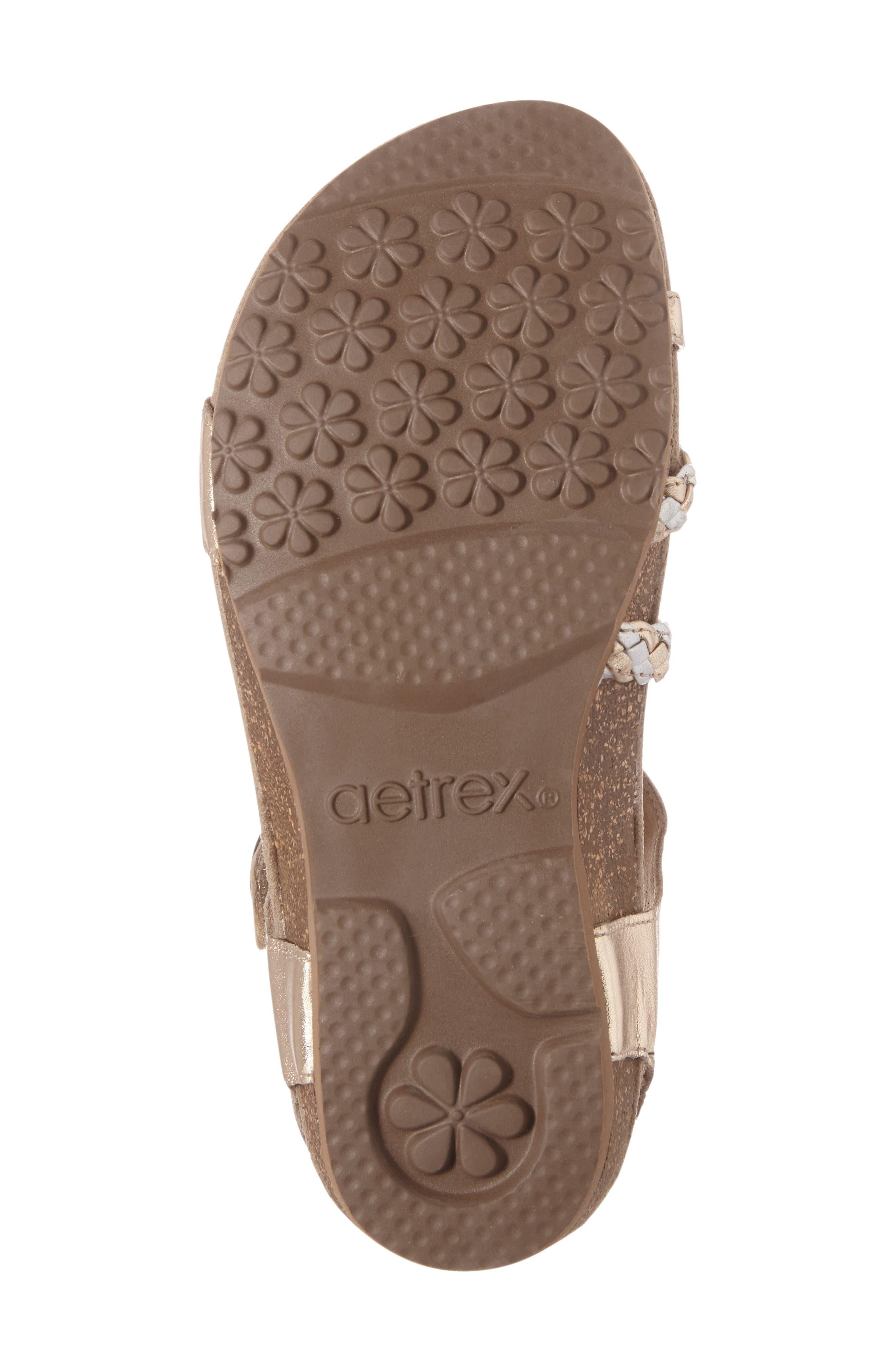 Alternate Image 4  - Aetrex 'Jillian' Braided Leather Strap Sandal (Women)