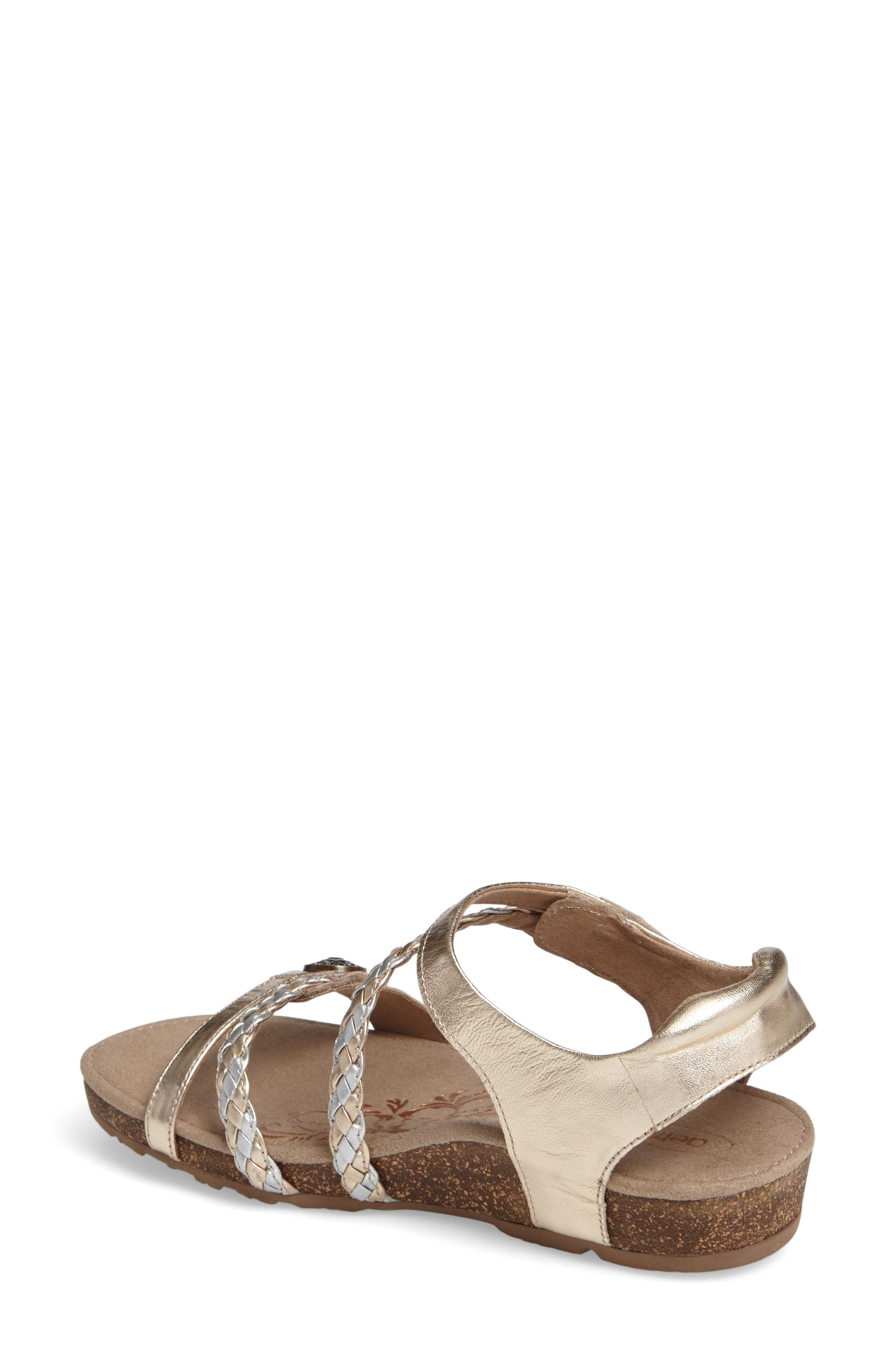 Alternate Image 2  - Aetrex 'Jillian' Braided Leather Strap Sandal (Women)