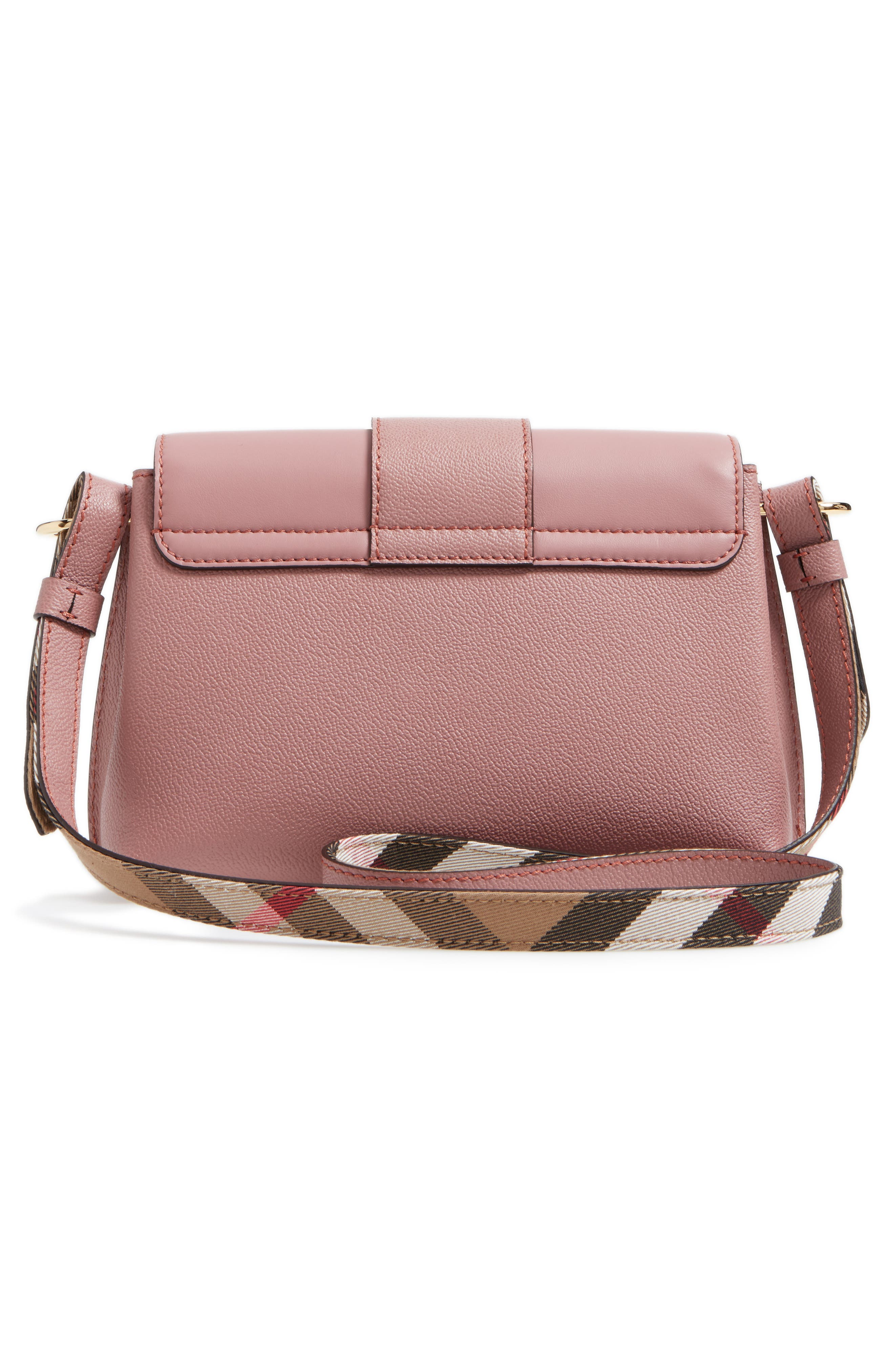 Small Medley Leather Shoulder Bag,                             Alternate thumbnail 3, color,                             Dusty Pink