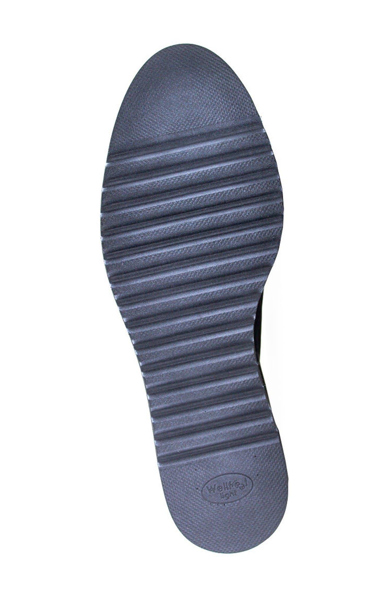Belinda Platform Oxford,                             Alternate thumbnail 4, color,                             Black Leather