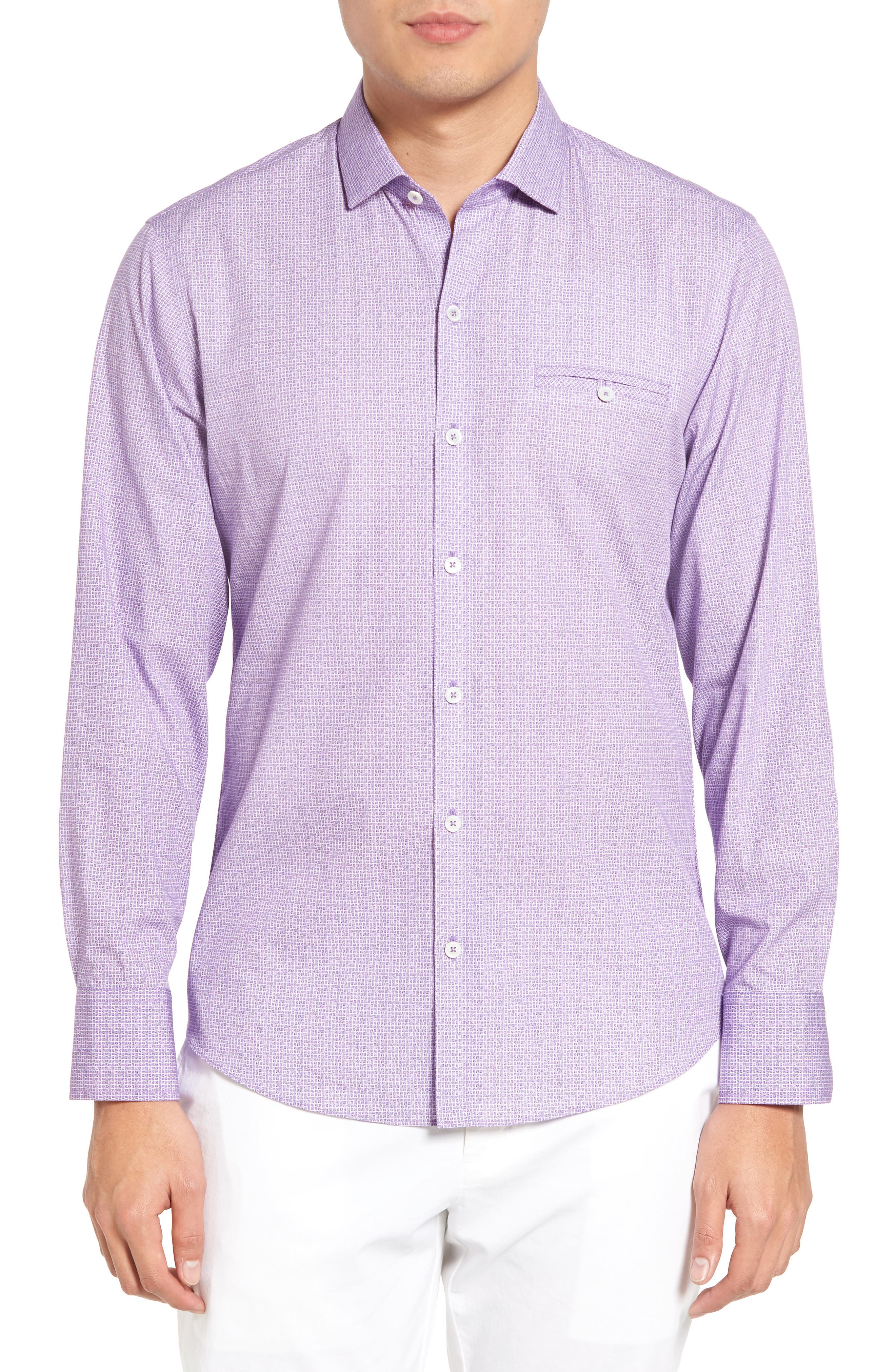 Alternate Image 1 Selected - Zachary Prell McDesmond Trim Fit Print Sport Shirt
