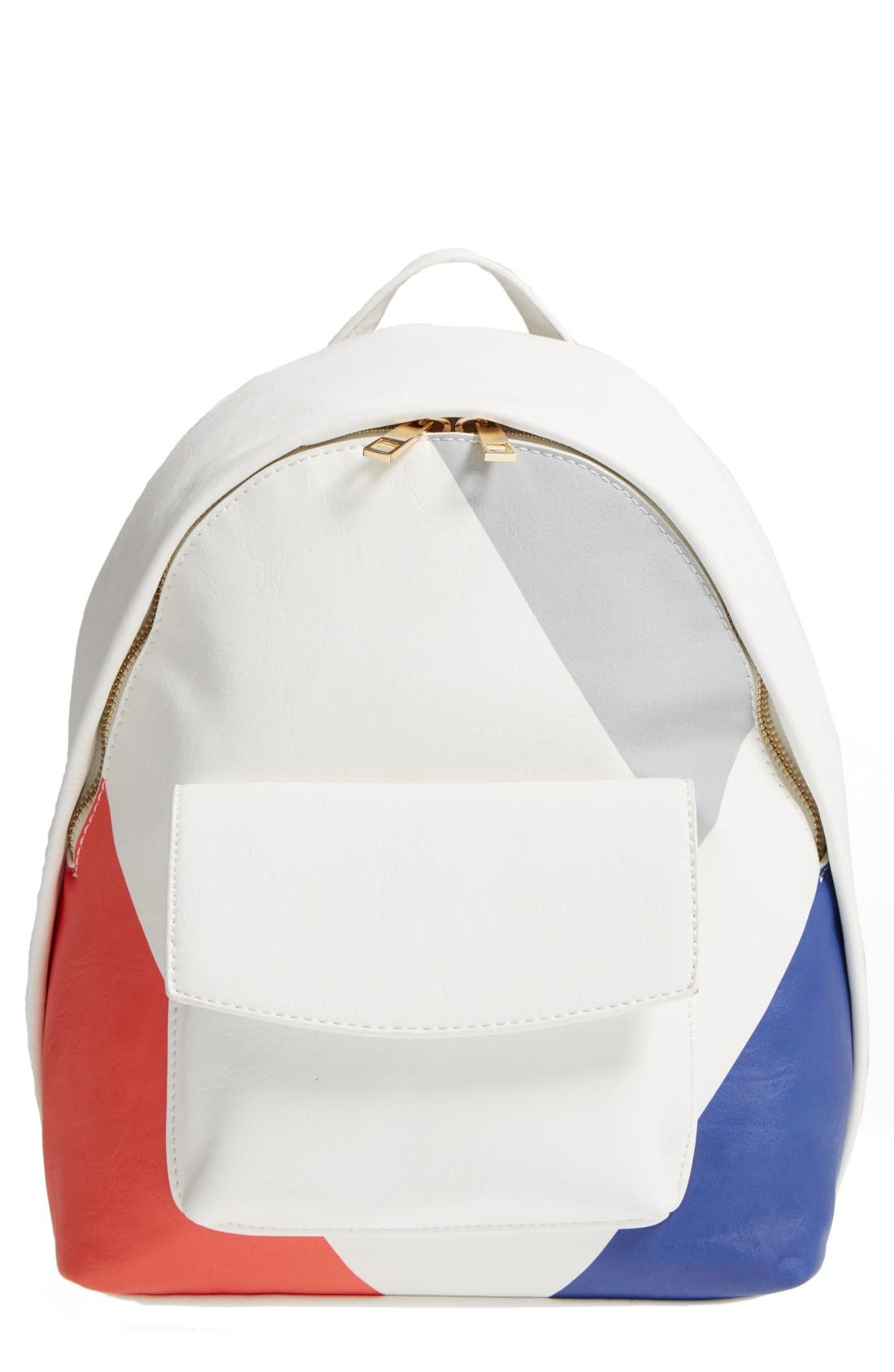Main Image - BP. Graphic Faux Leather Backpack