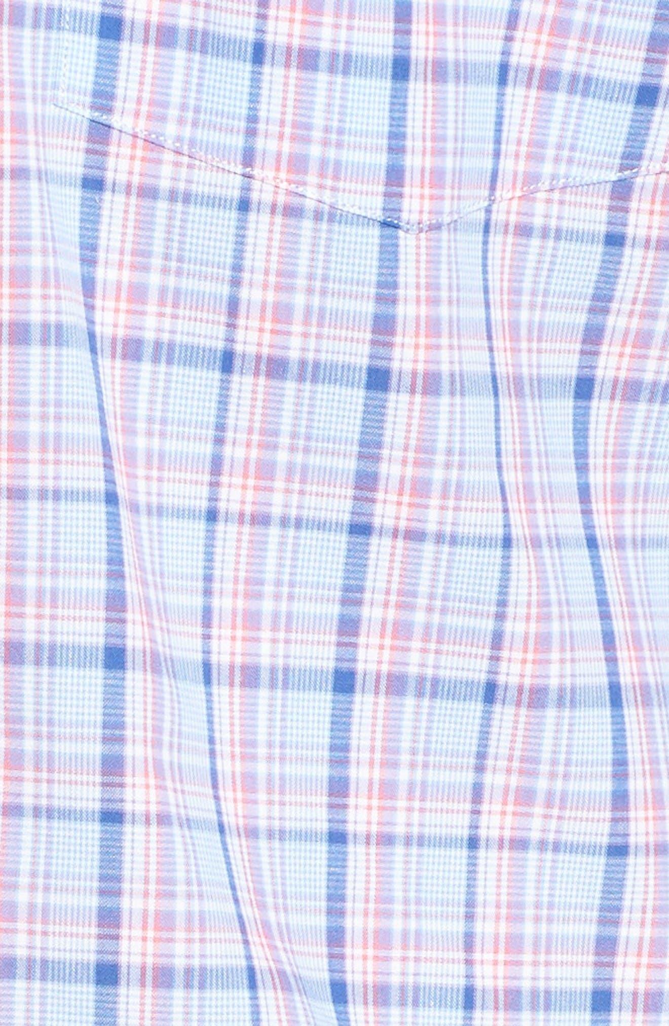 Alternate Image 5  - Tailorbyrd Arbor Plaid Sport Shirt