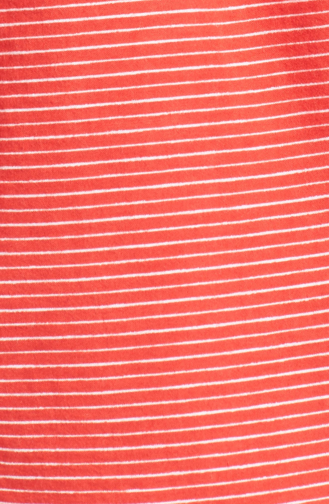 Avalon Cotton Shirtdress,                             Alternate thumbnail 6, color,                             Deep Sea Print Red