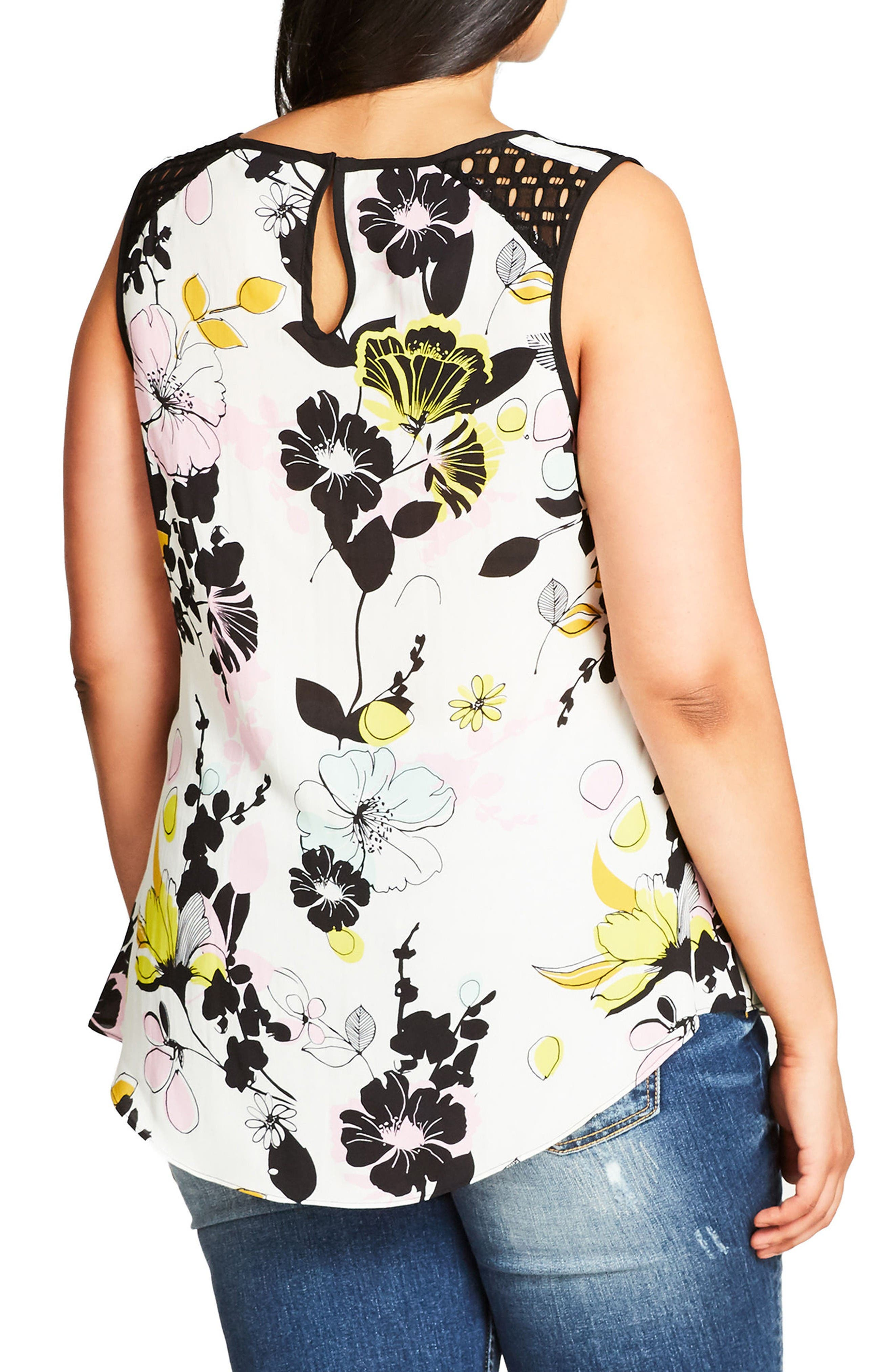 Alternate Image 2  - City Chic Art Darling Top (Plus Size)