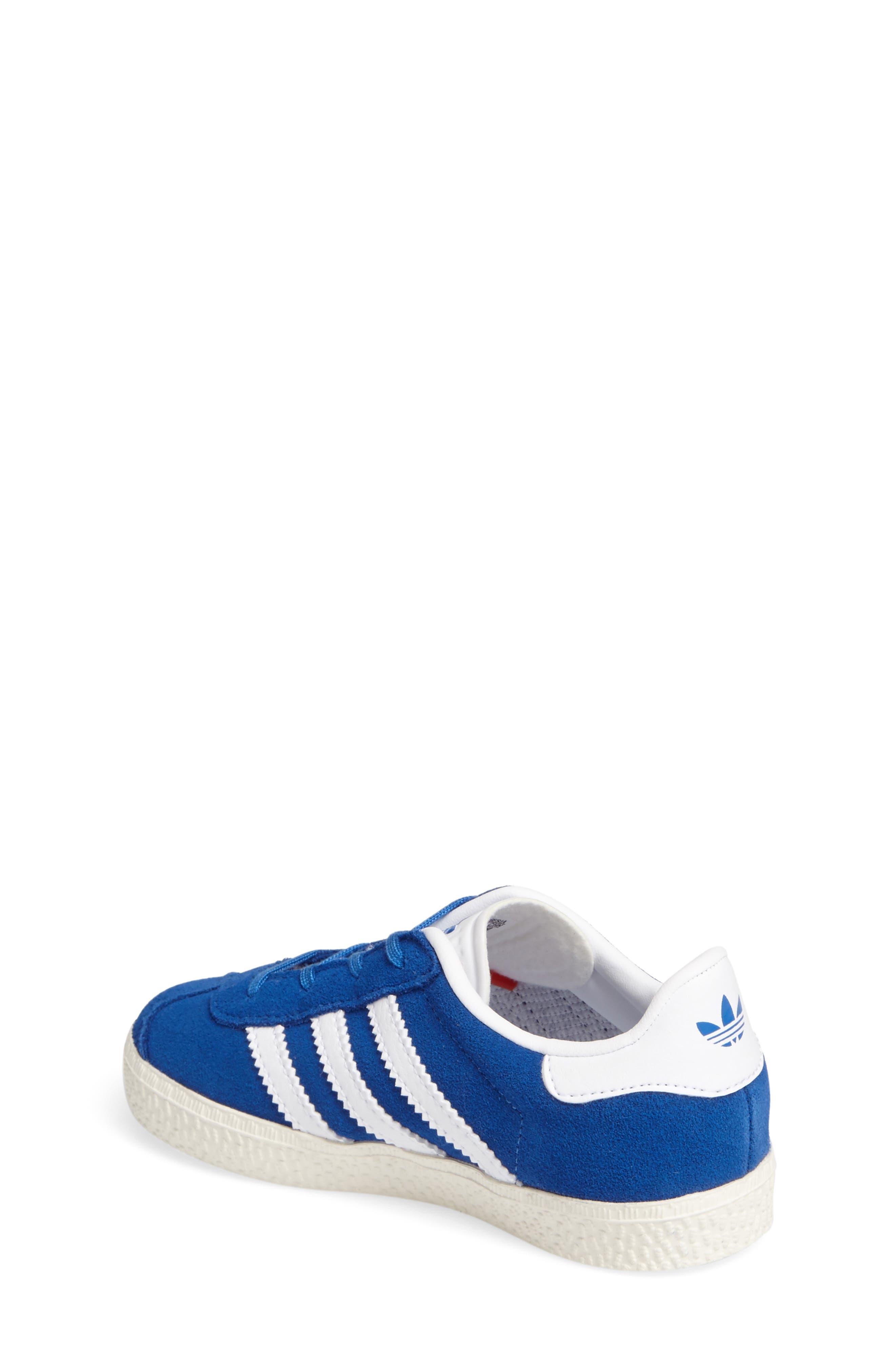 Gazelle Sneaker,                             Alternate thumbnail 2, color,                             Blue/ White/ Gold Metallic