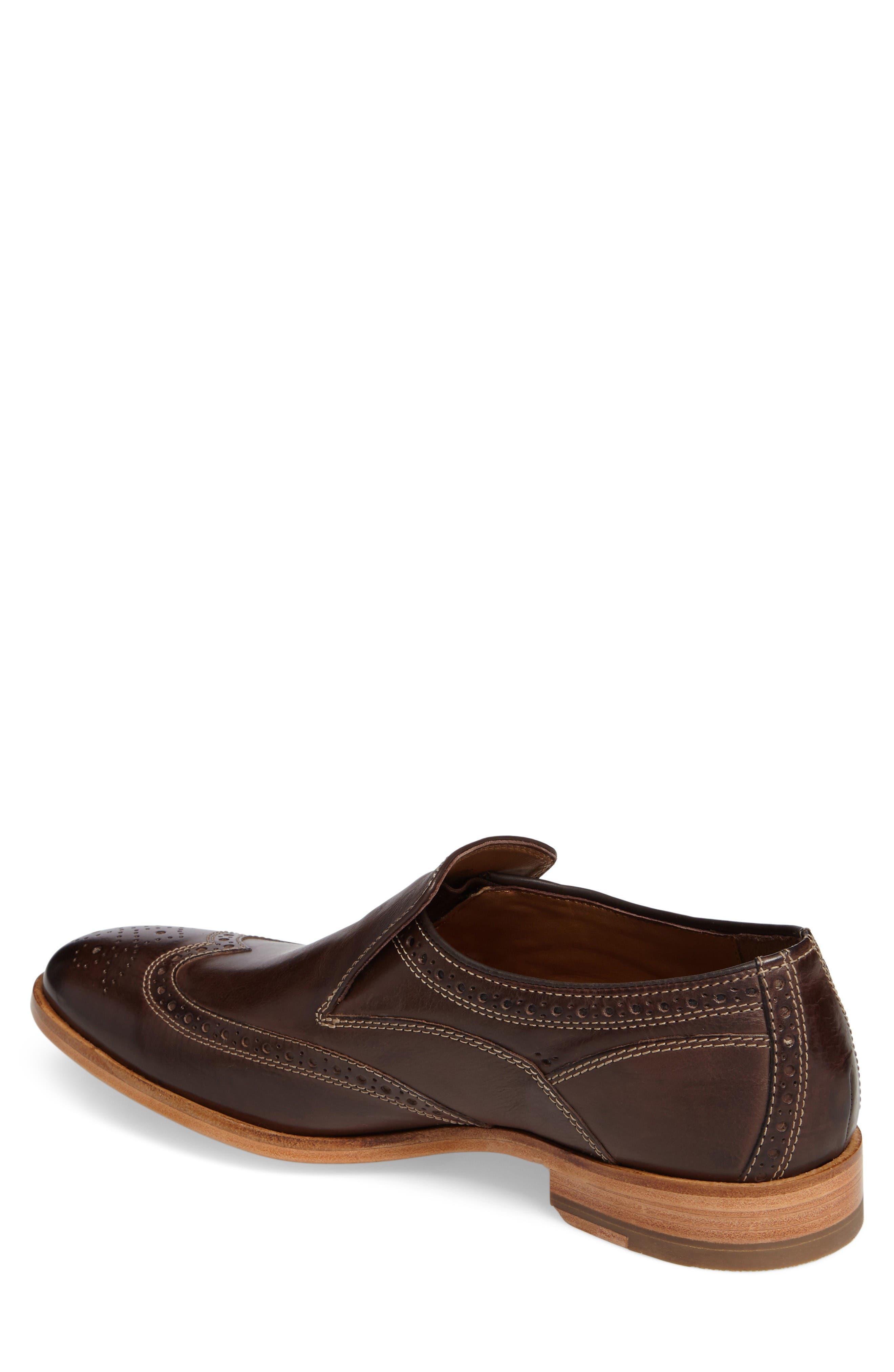 Graham Wingtip Loafer,                             Alternate thumbnail 2, color,                             Dark Brown Calfskin Leather