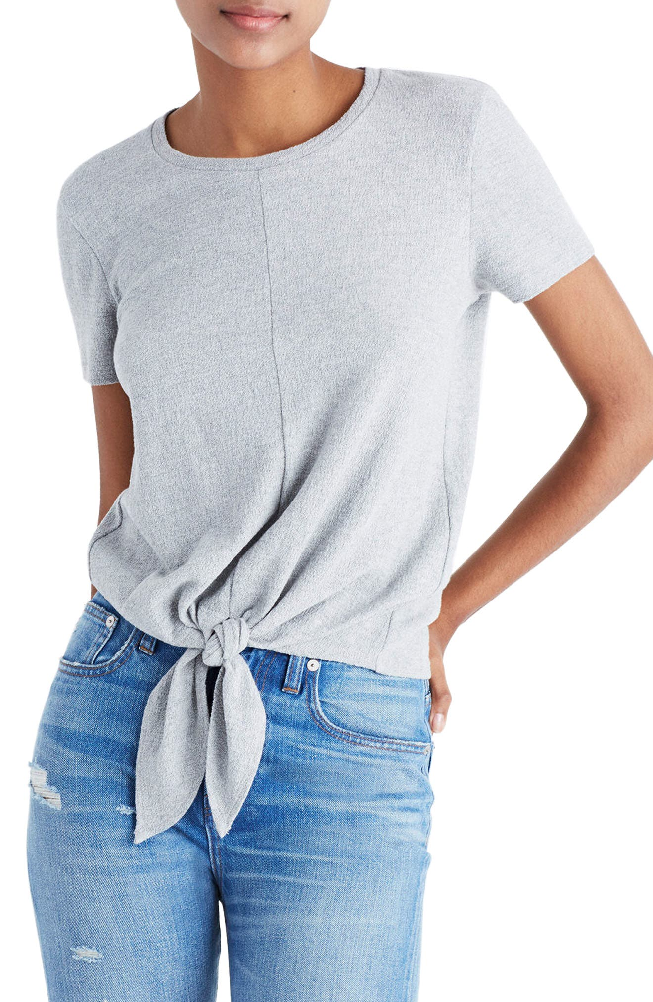 Alternate Image 1 Selected - Madewell Modern Tie Front Tee