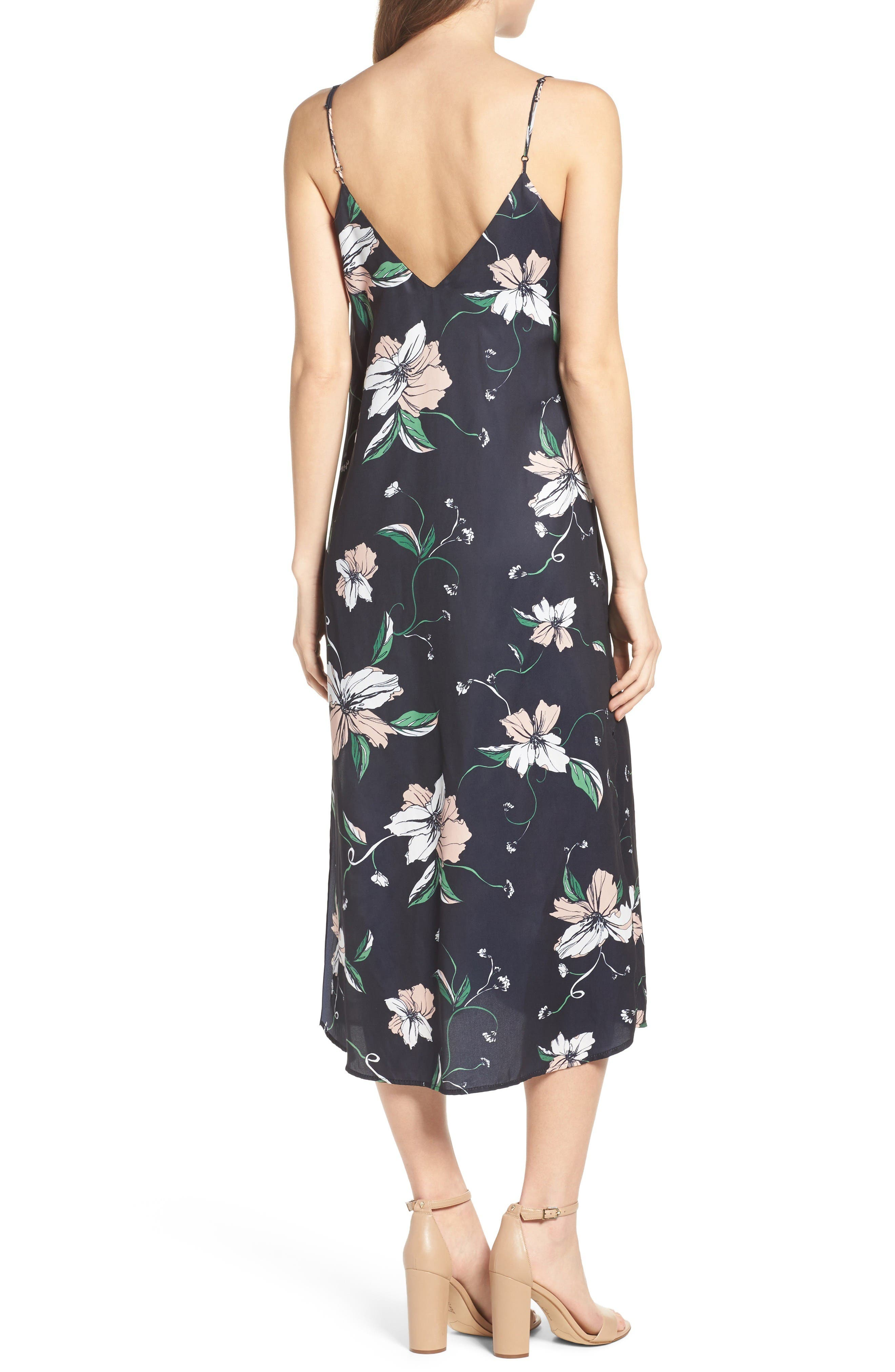 Alternate Image 2  - Bardot Hibiscus Print Midi Dress