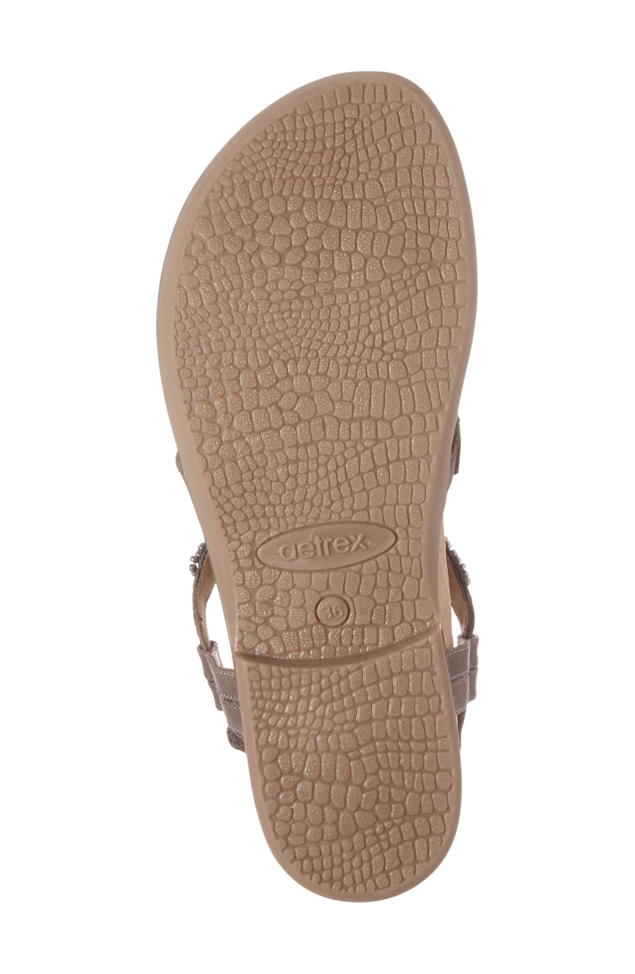 Sheila Embellished Sandal,                             Alternate thumbnail 6, color,                             Stone Leather