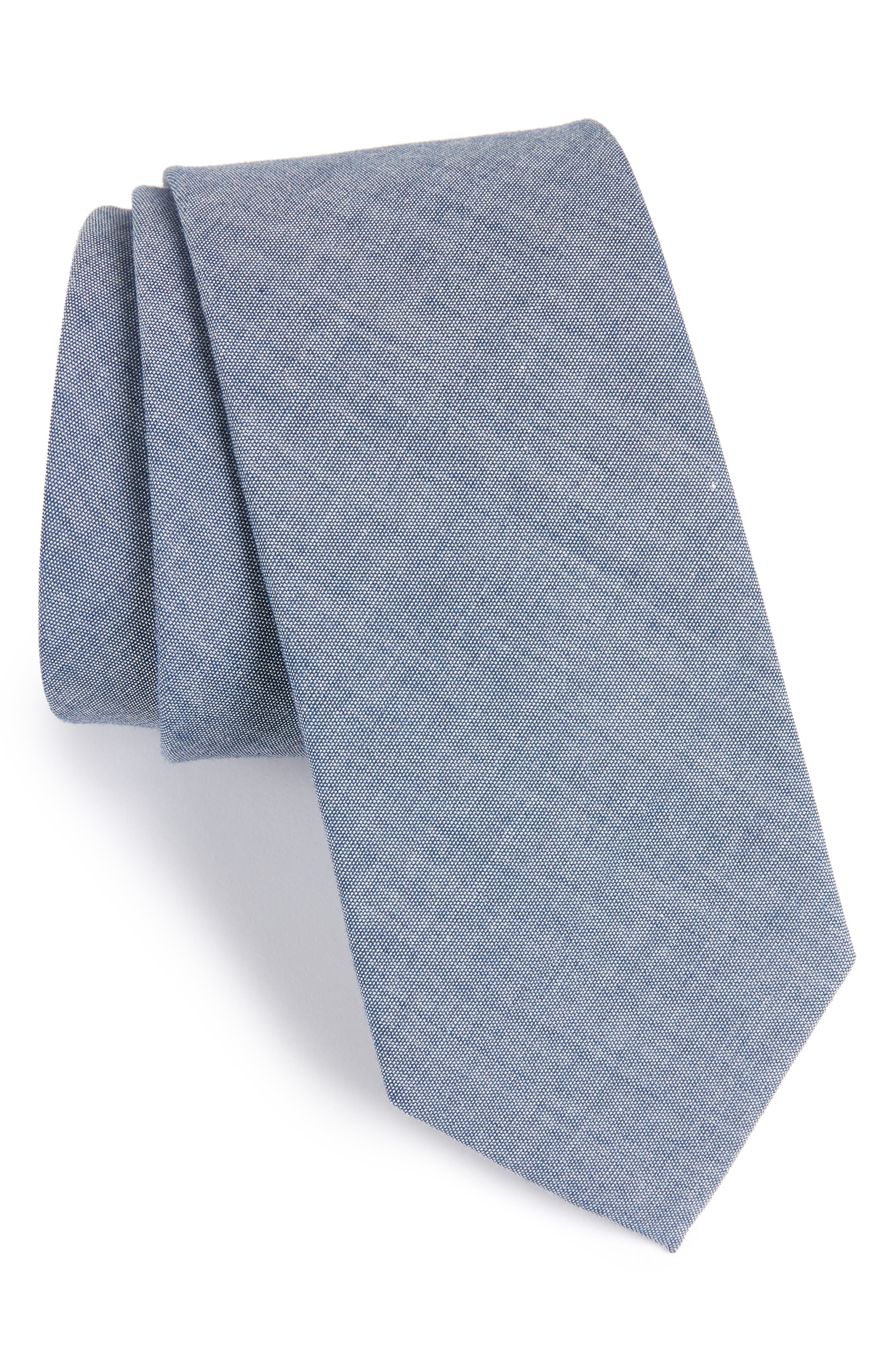 Alternate Image 1 Selected - The Tie Bar Classic Chambray Cotton Tie