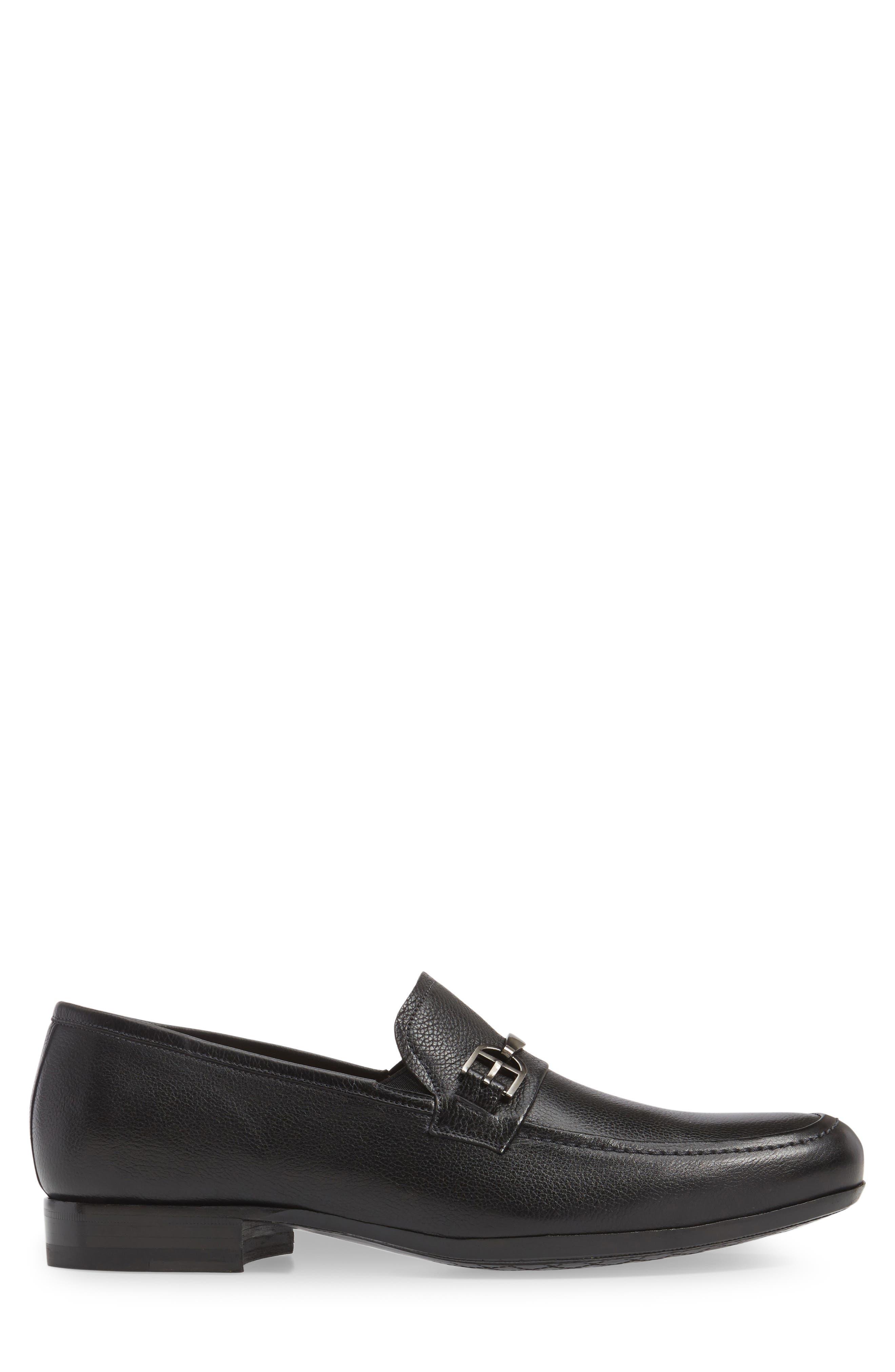 Binet Bit Loafer,                             Alternate thumbnail 3, color,                             Black Leather