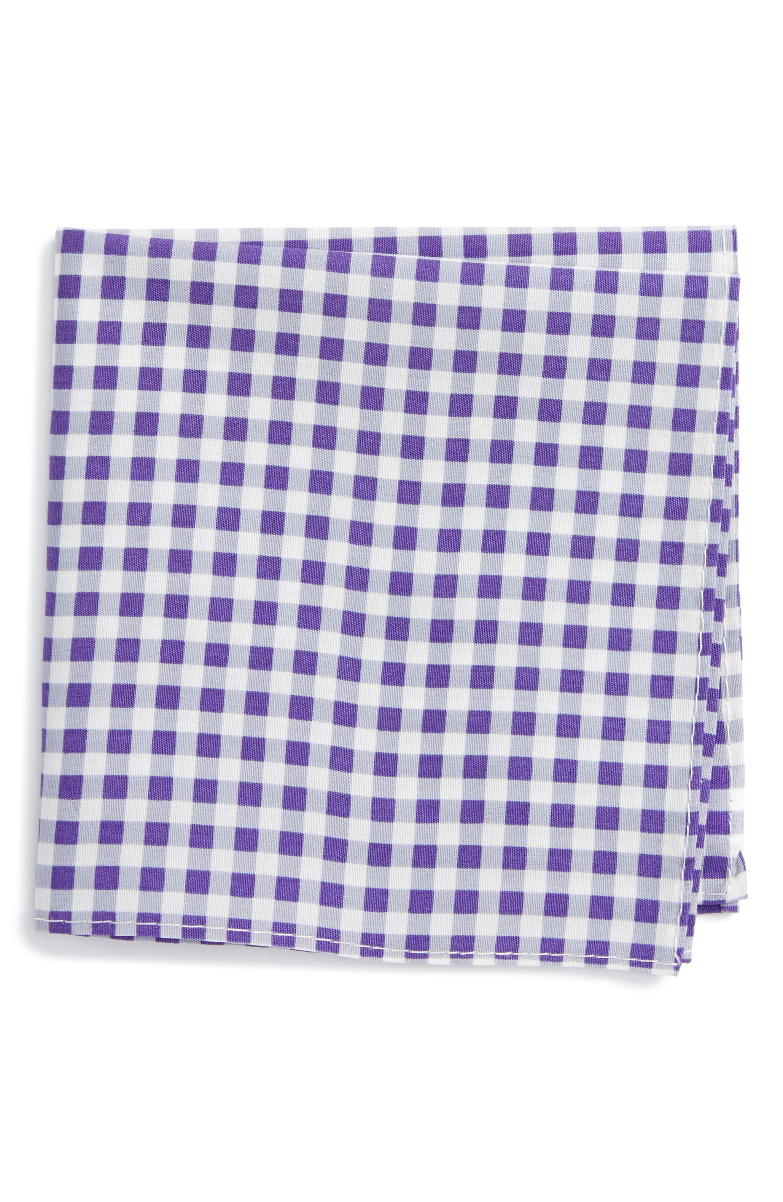 Nordstrom Check Cotton Pocket Square (Big Boys)
