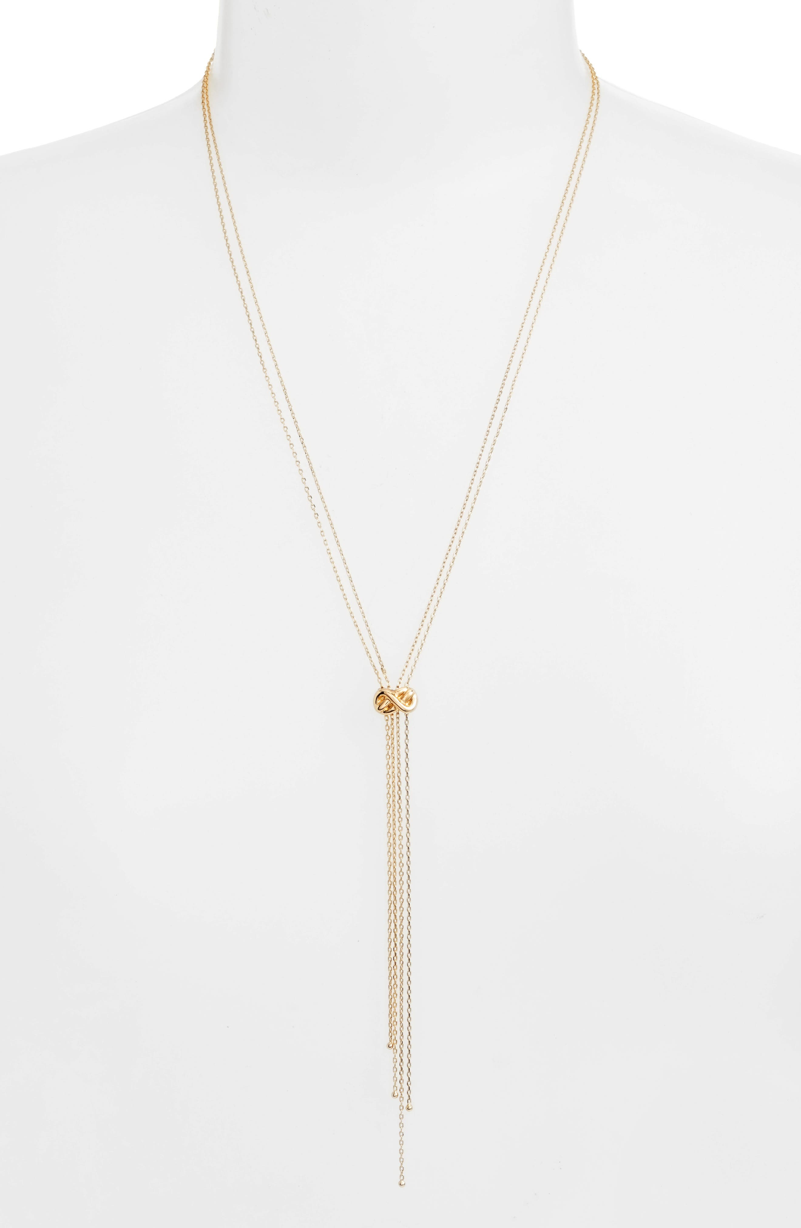 Cory Lariat Necklace,                         Main,                         color, Gold