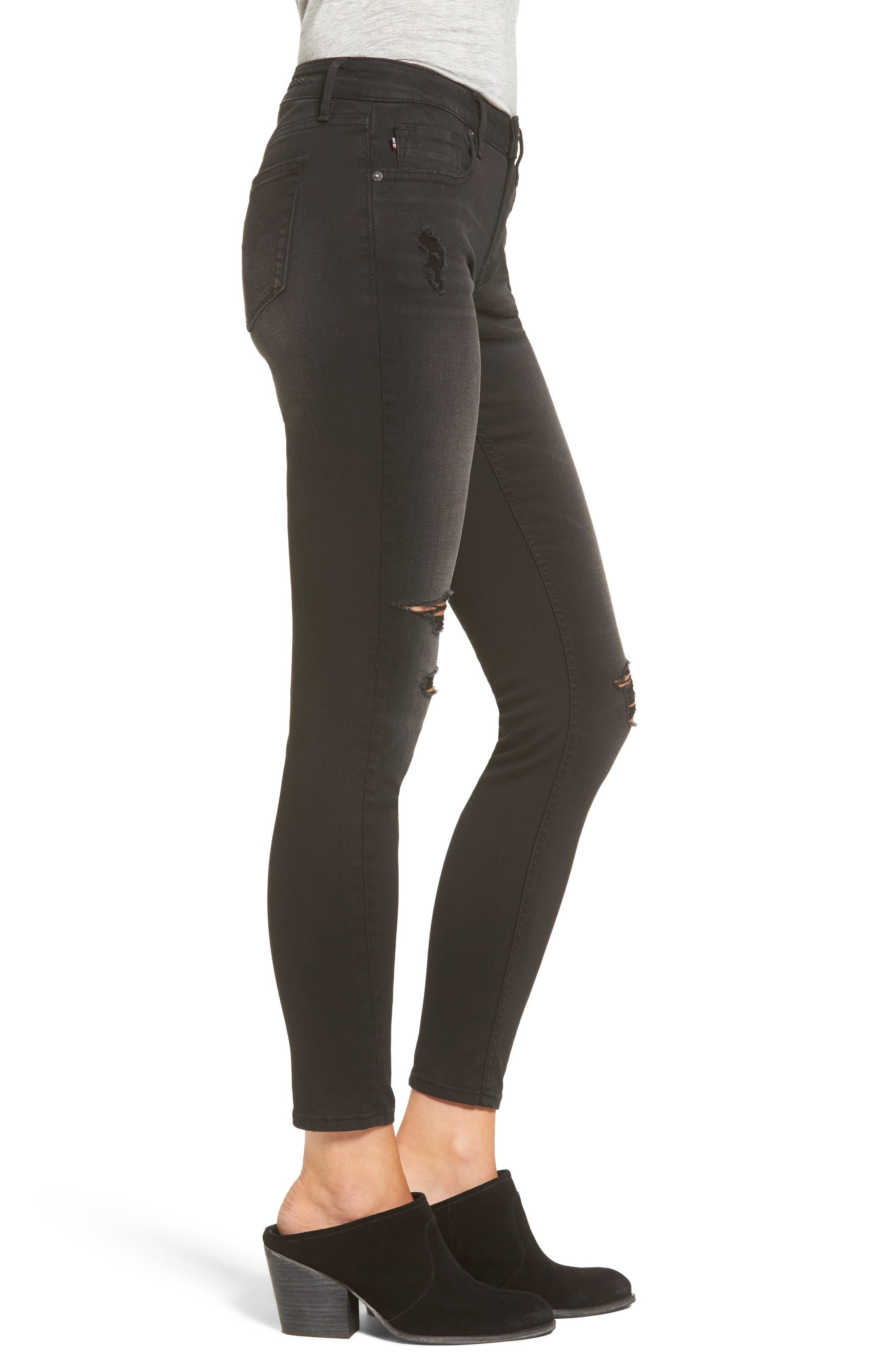 Alternate Image 3  - Vigoss Chelsea Ripped Skinny Jeans
