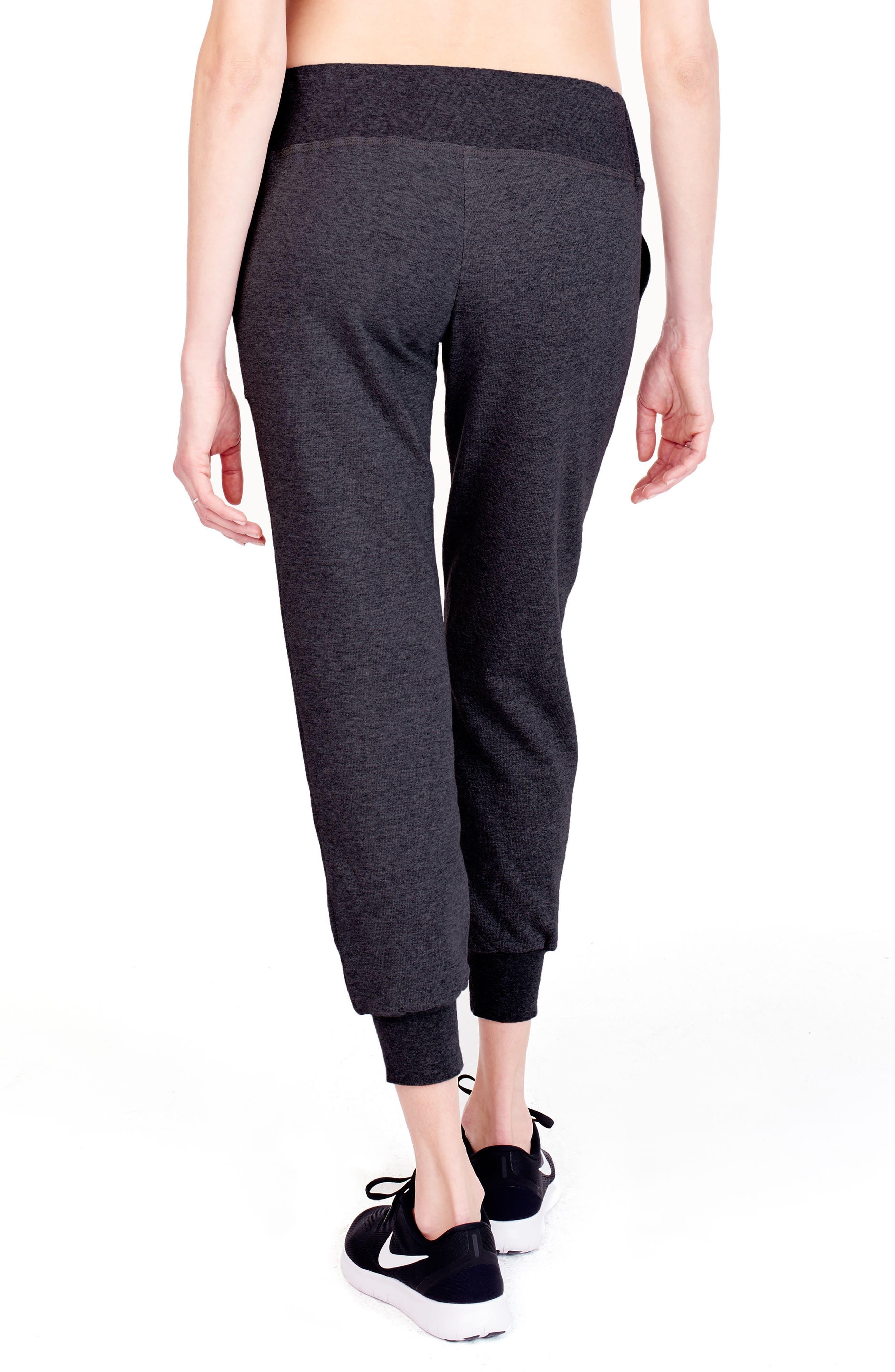 Alternate Image 2  - Ingrid & Isabel® Cozy Fleece Maternity Jogger Pants