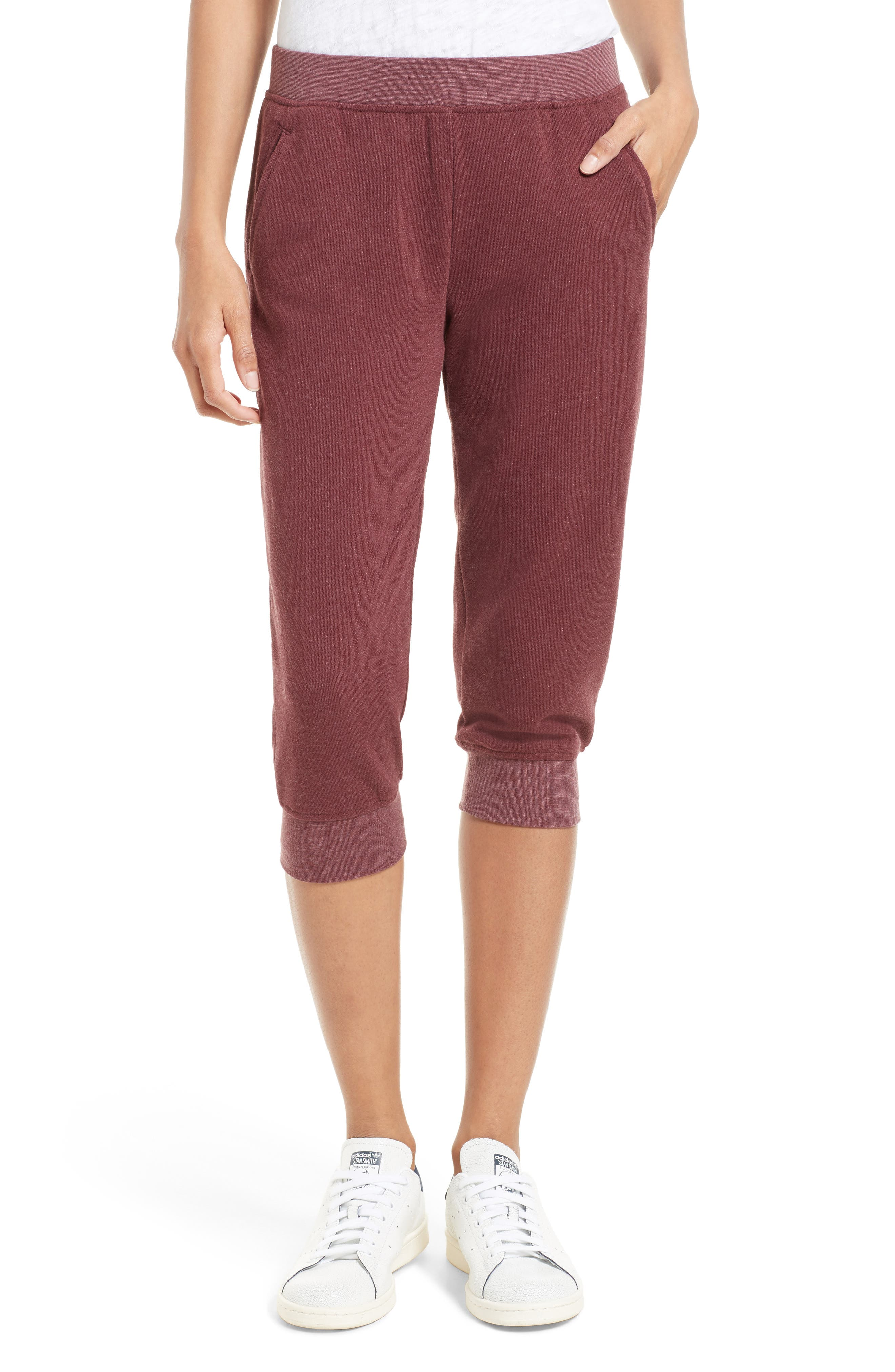 Slim Capri Pants,                         Main,                         color, Brownstone