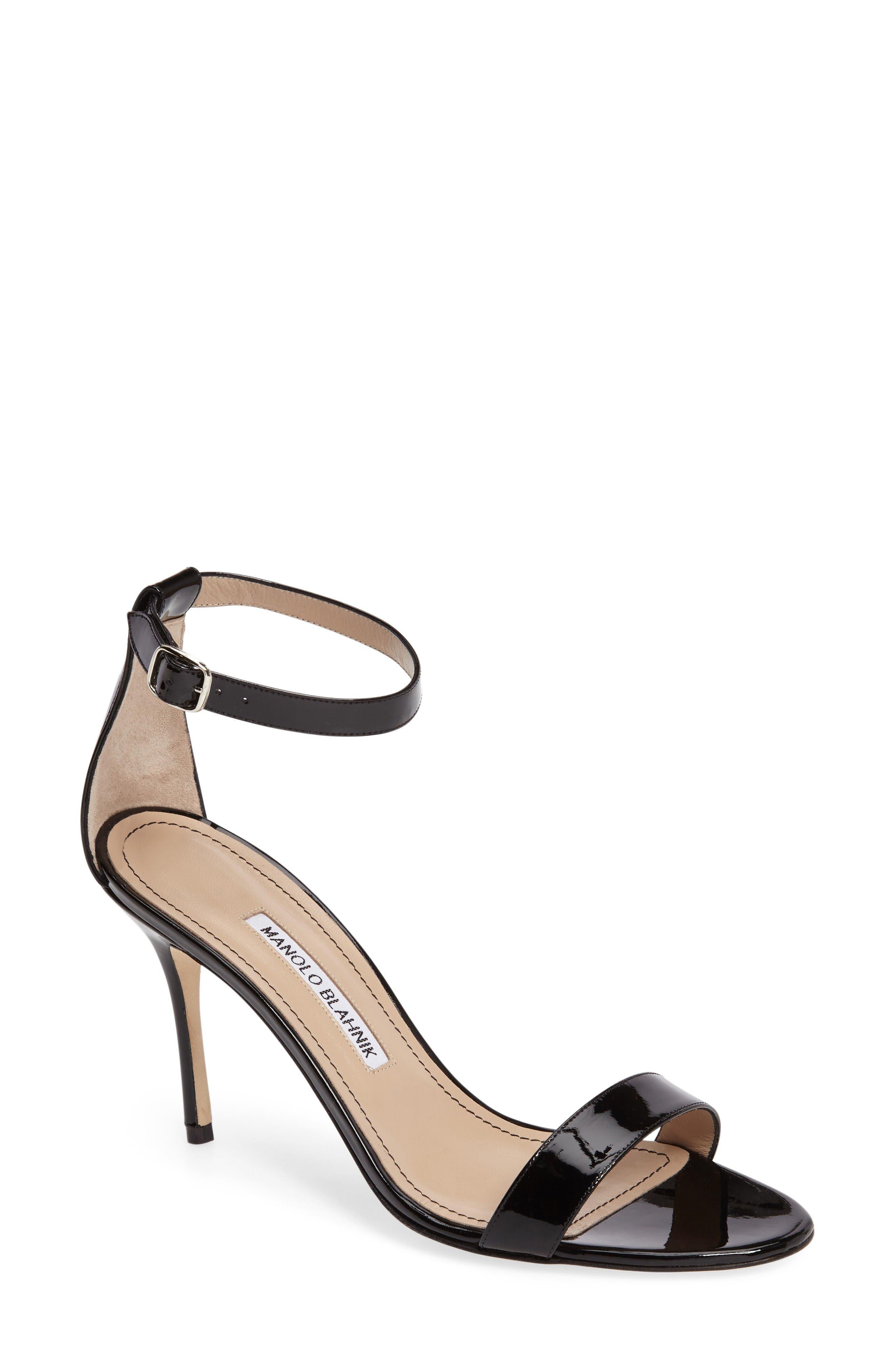 'Chaos' Ankle Strap Sandal,                         Main,                         color, Black Patent