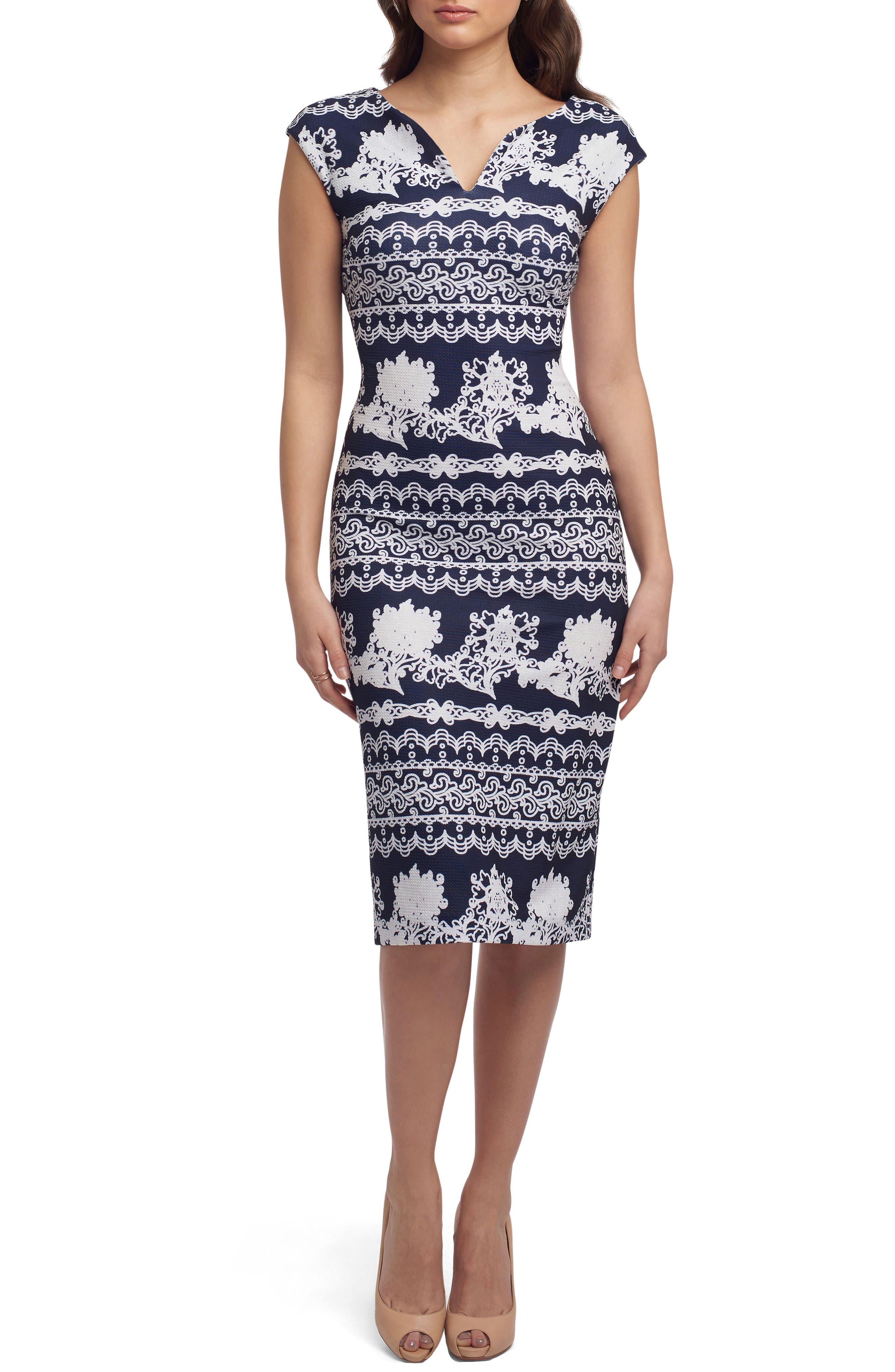 Main Image - ECI Print Scuba Sheath Dress
