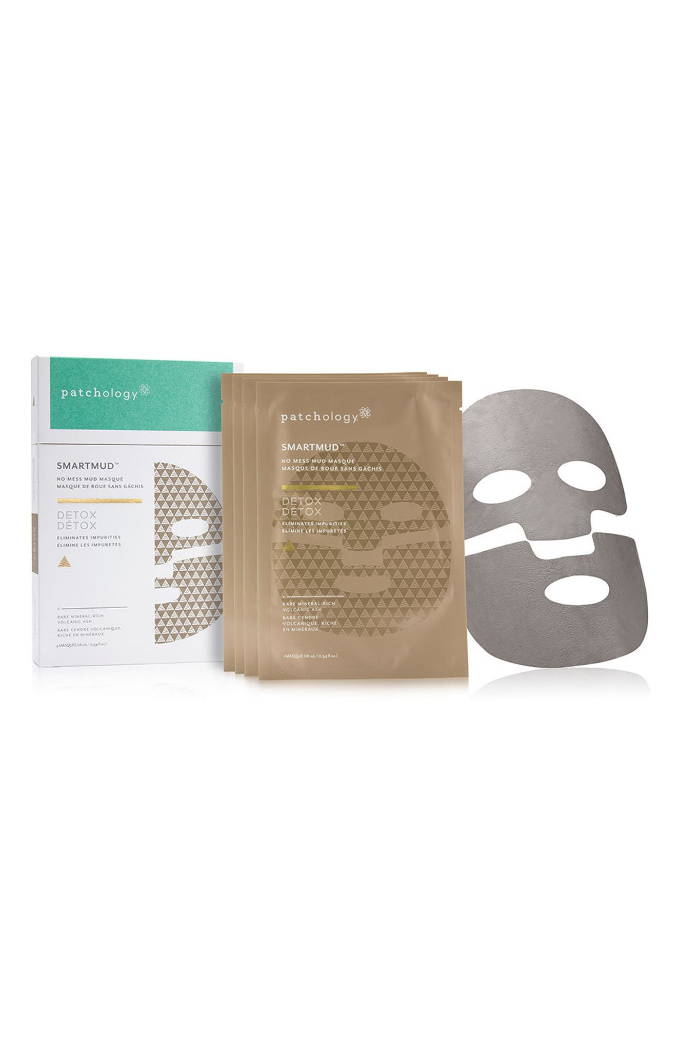 SmartMud<sup>™</sup> Detox No Mess Mud Sheet Mask,                         Main,                         color, No Color