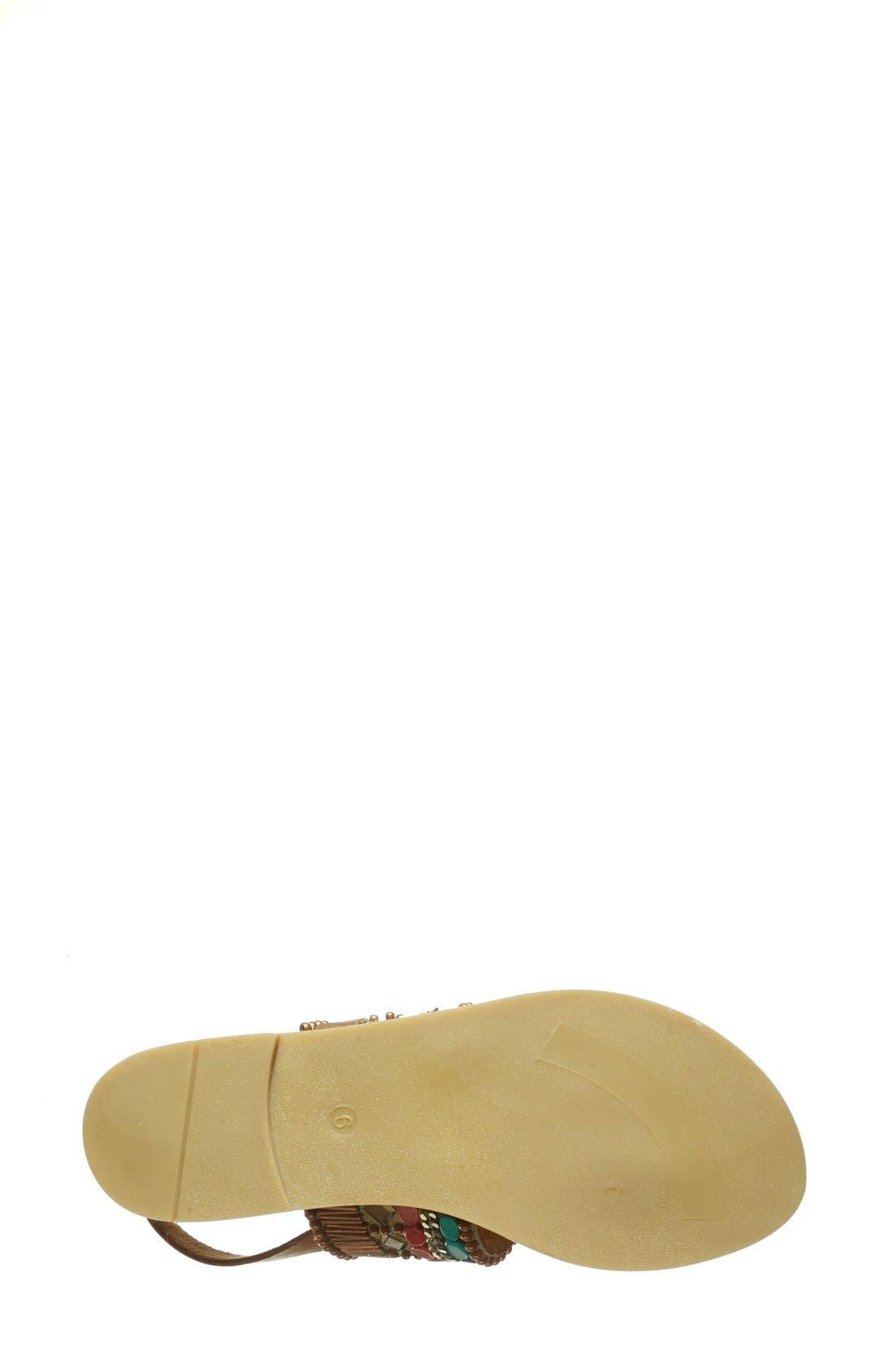 Alternate Image 4  - Hinge Beaded Thong Sandal (Women)