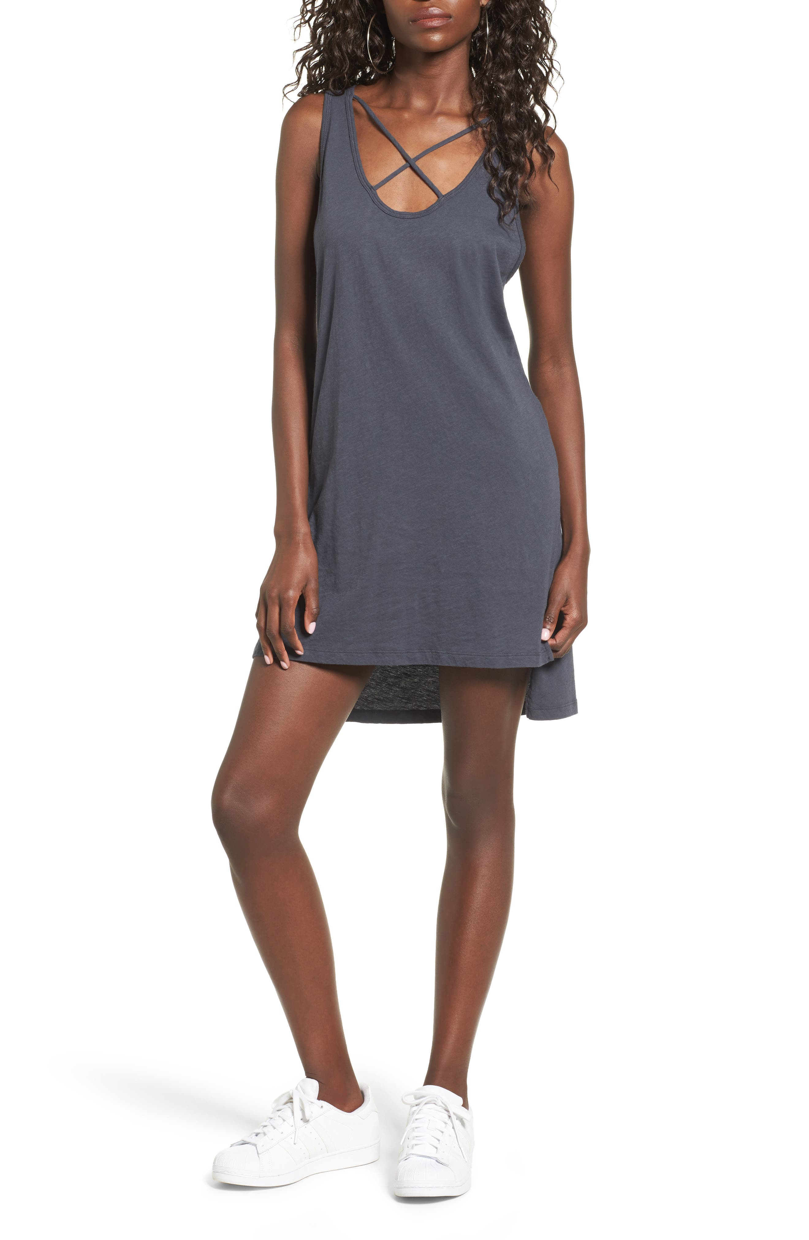 Main Image - LNA Cross Strap Tank Dress