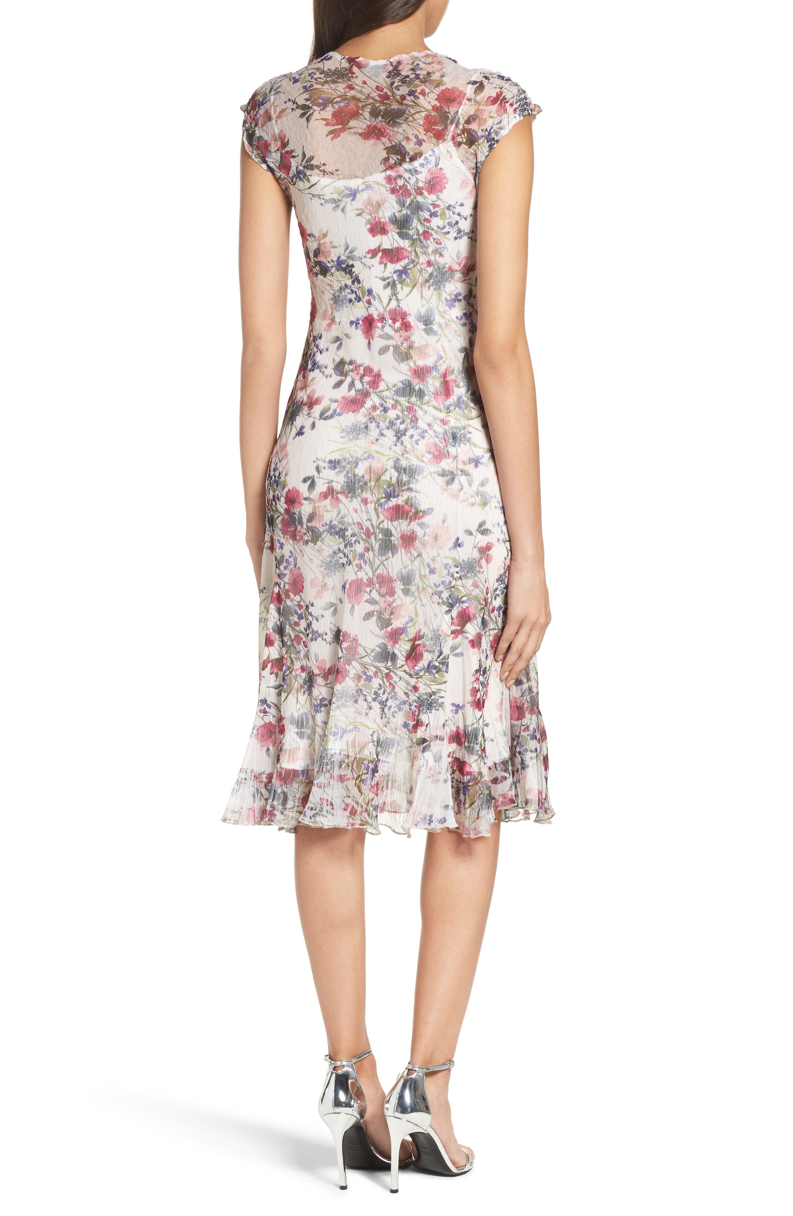 Chiffon Midi Dress,                             Alternate thumbnail 2, color,                             Wildflower