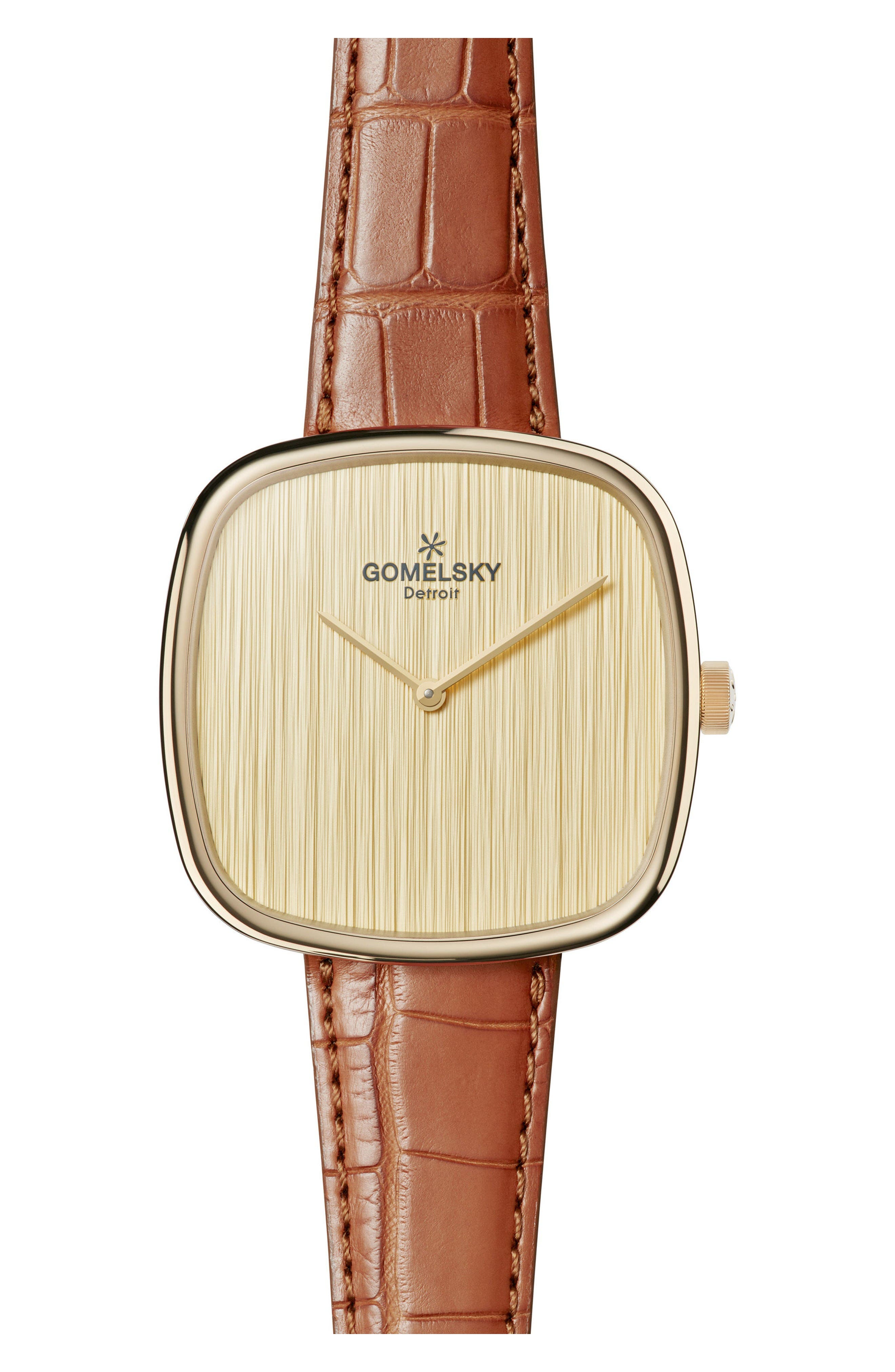 GOMELSKY The Eppie Sneed Alligator Leather Strap Watch, 40mm