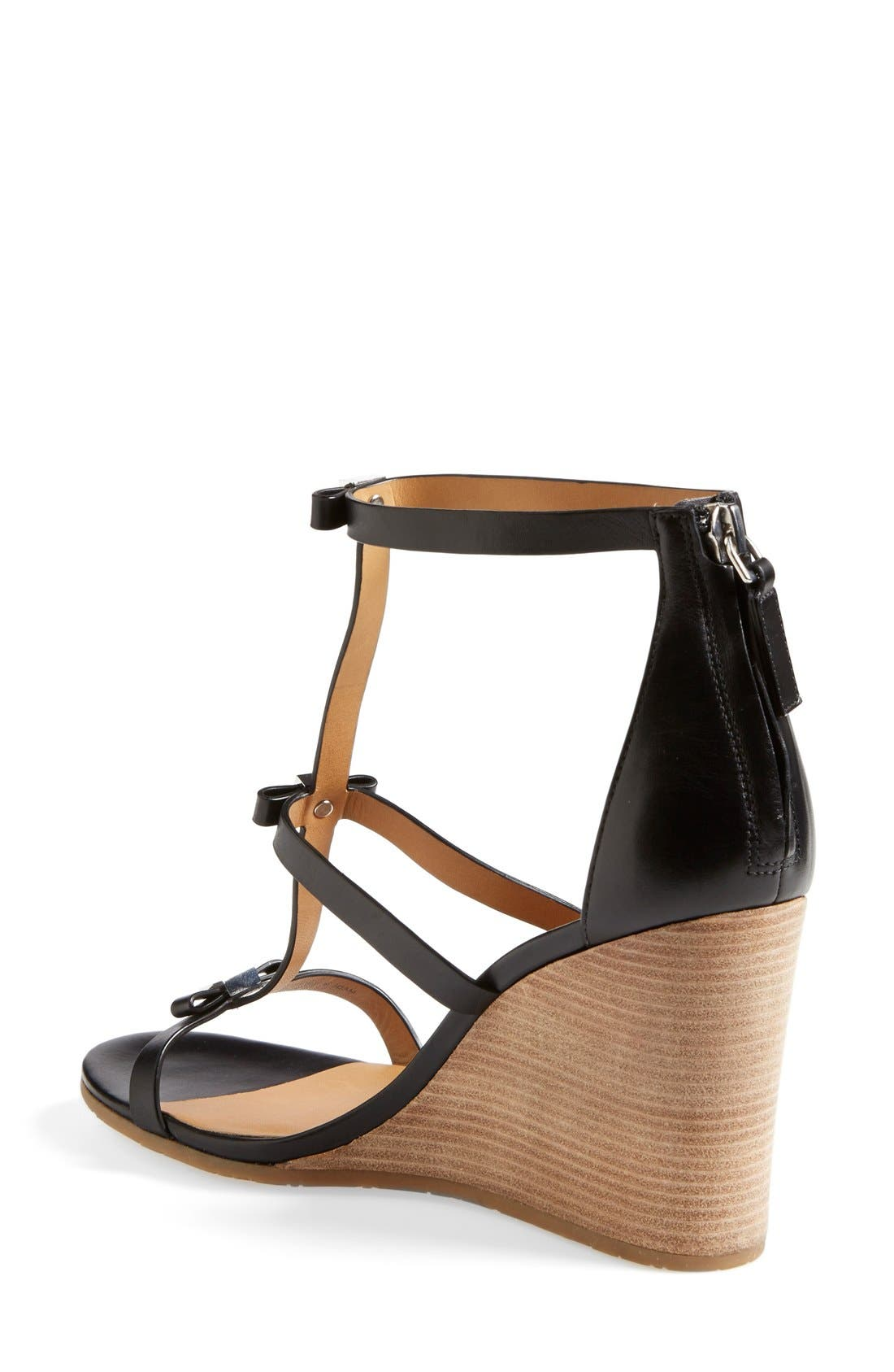 Alternate Image 2  - MARC BY MARC JACOBS Cube Bow Leather Wedge Sandal (Women)