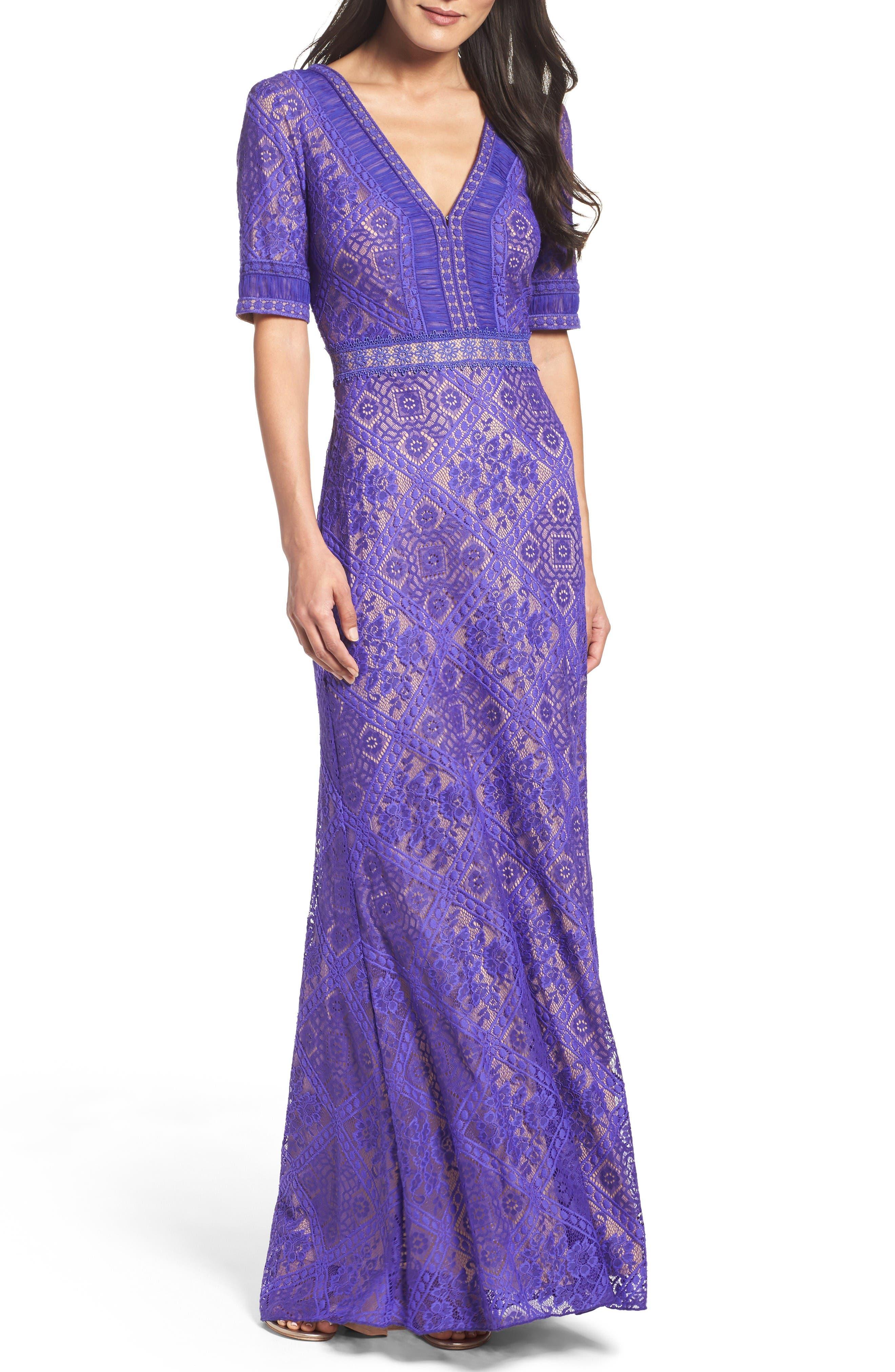 Alternate Image 1 Selected - Tadashi Shoji Lace Gown