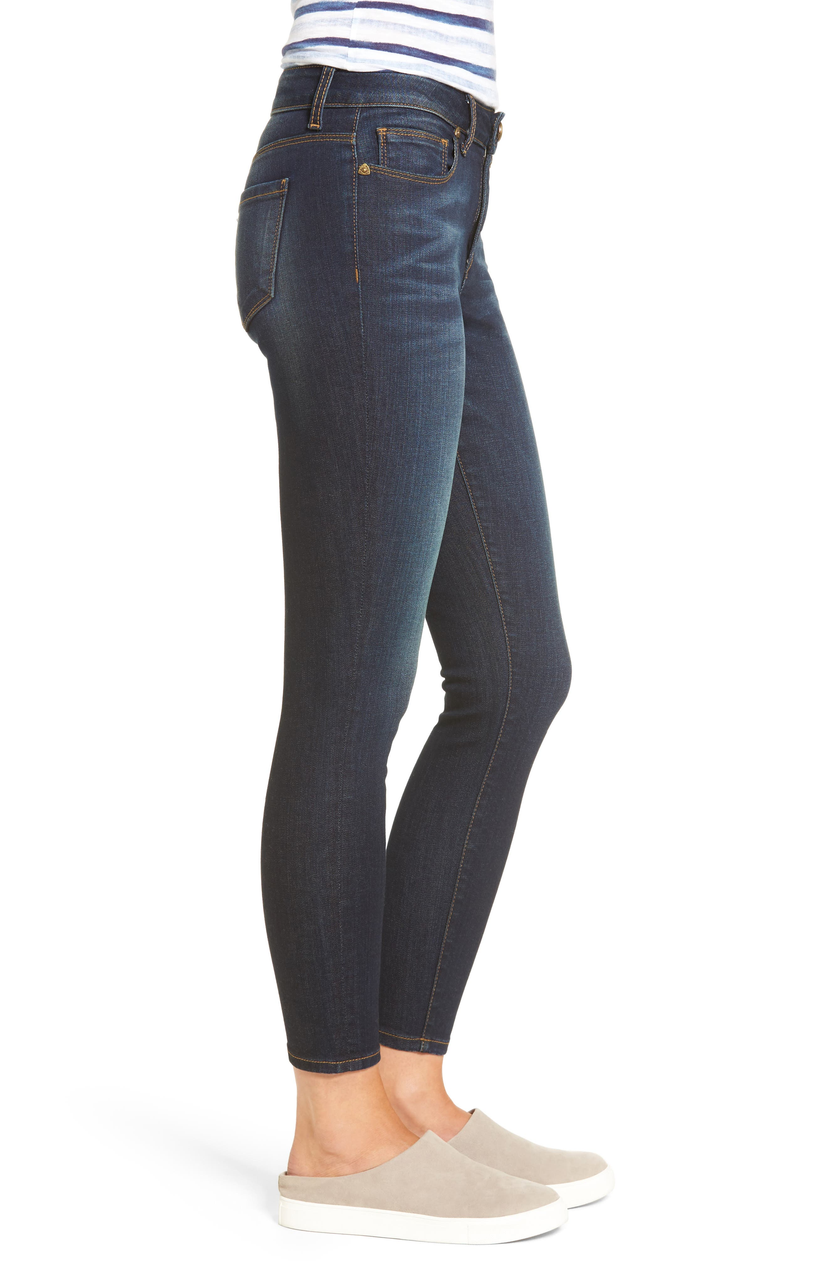 Kurvy Ankle Skinny Jeans,                             Alternate thumbnail 3, color,                             Blinding