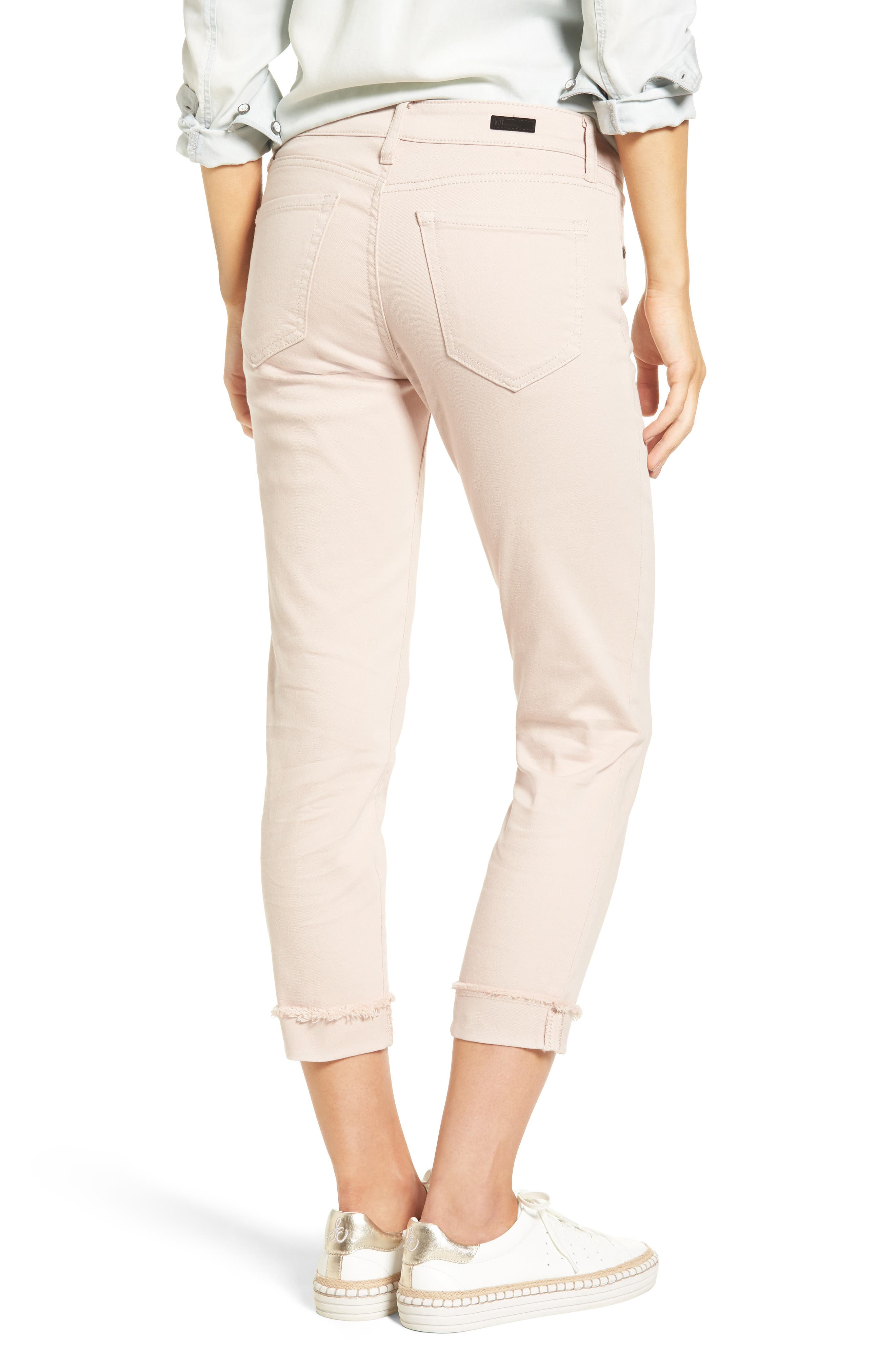 Alternate Image 2  - KUT from the Kloth Amy Stretch Slim Crop Jeans (Blush Rose)