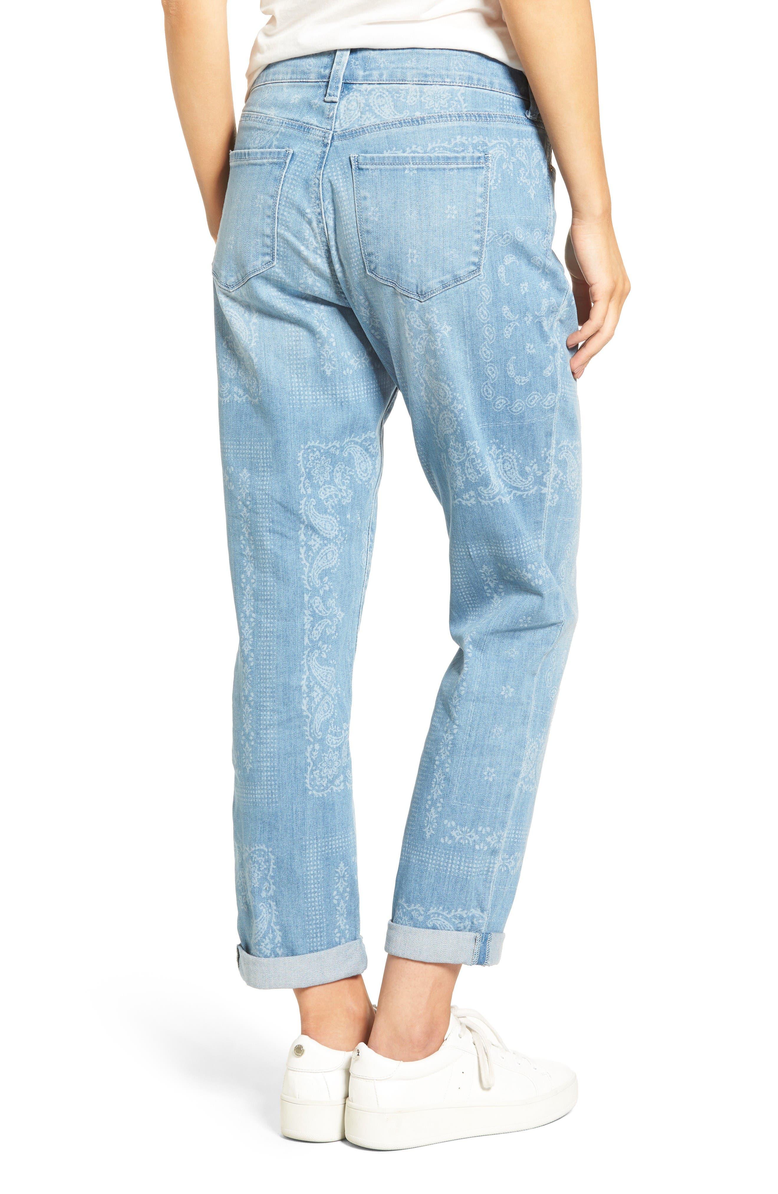 Alternate Image 2  - NYDJ Jessica Print Relaxed Boyfriend Jeans (Bandana) (Regular & Petite)
