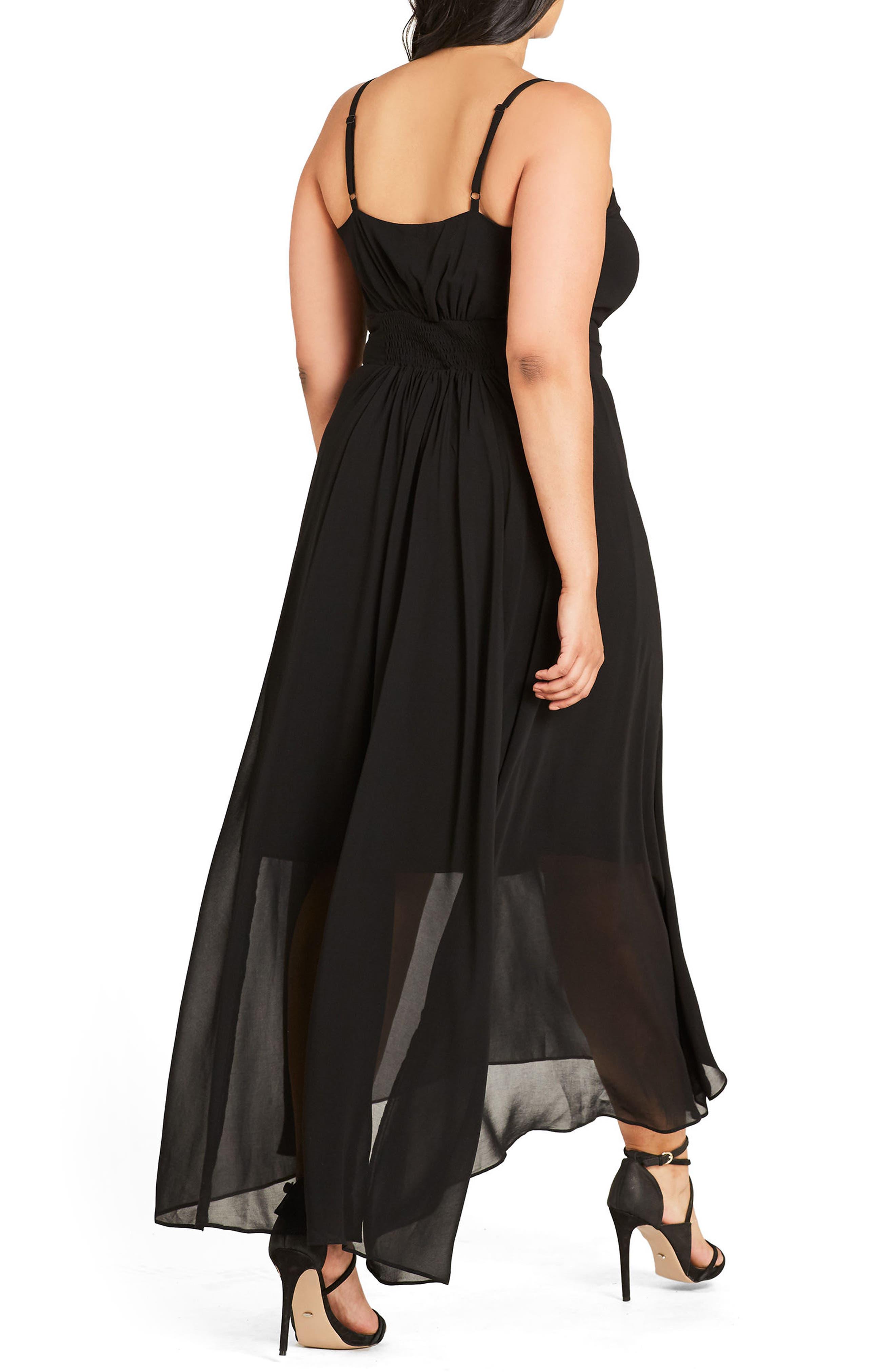 Alternate Image 2  - City Chic Smocked Waist Maxi Dress (Plus Size)