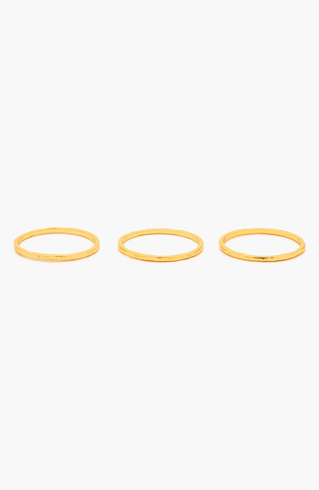 Alternate Image 3  - gorjana 'G Ring' Hammered Stack Rings (Set of 3)