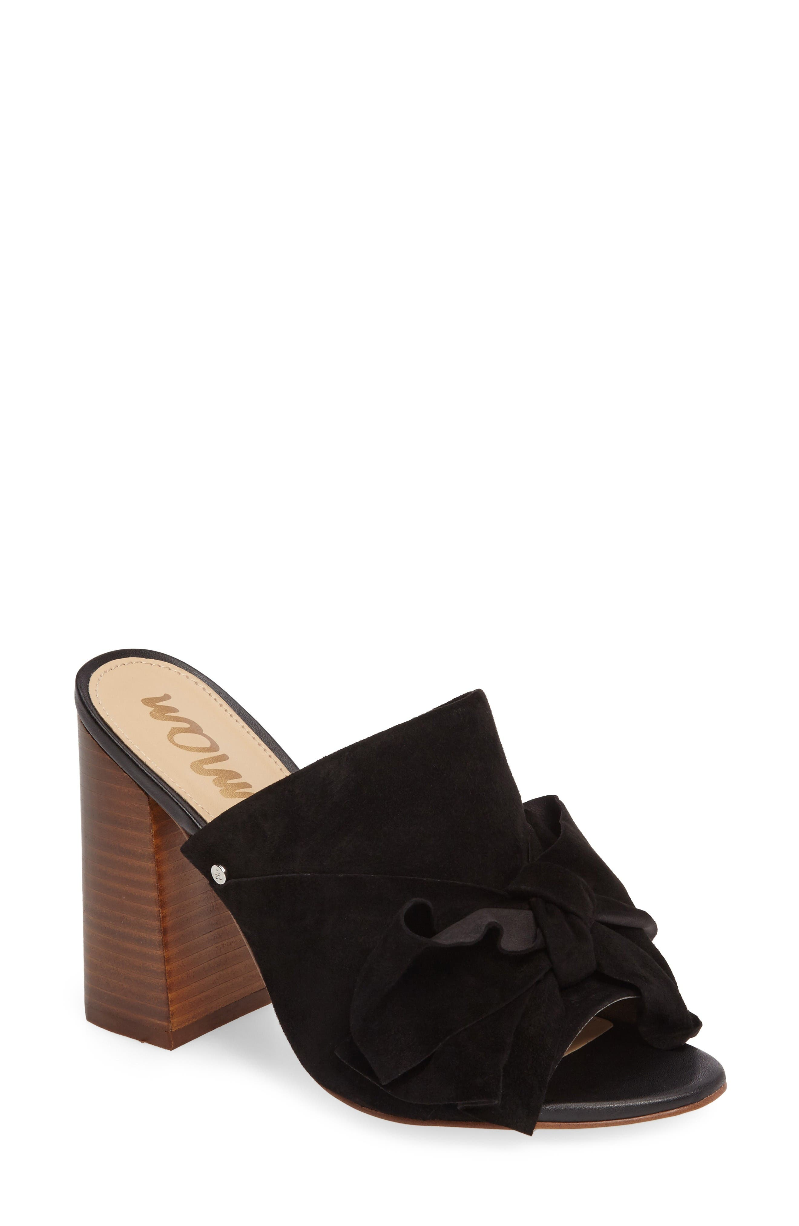 Yumi Bow Mule,                         Main,                         color, Black