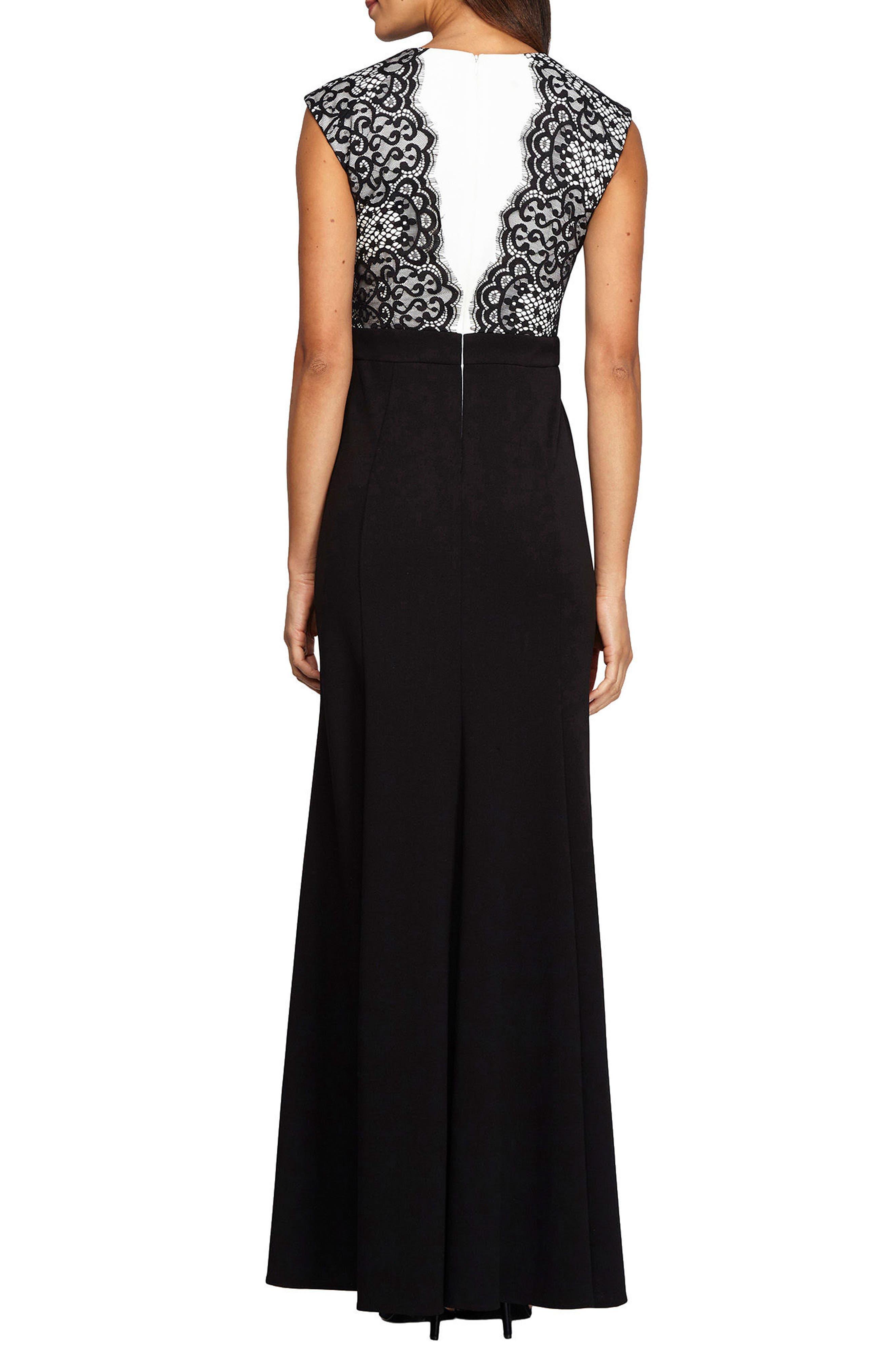 Alternate Image 2  - Alex Evenings Lace Gown