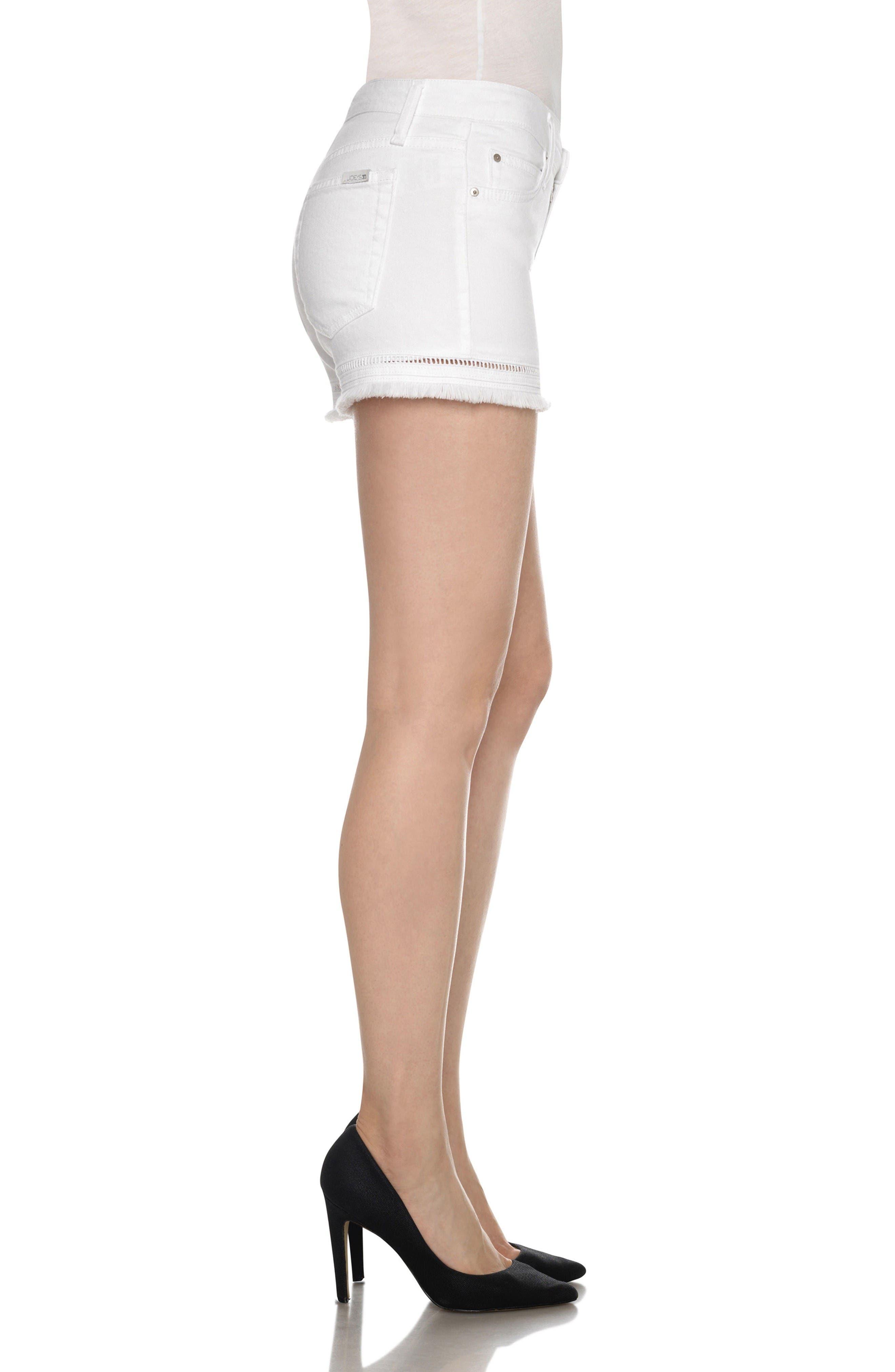 Ozzie Cutoff Denim Shorts,                             Alternate thumbnail 3, color,                             Edma